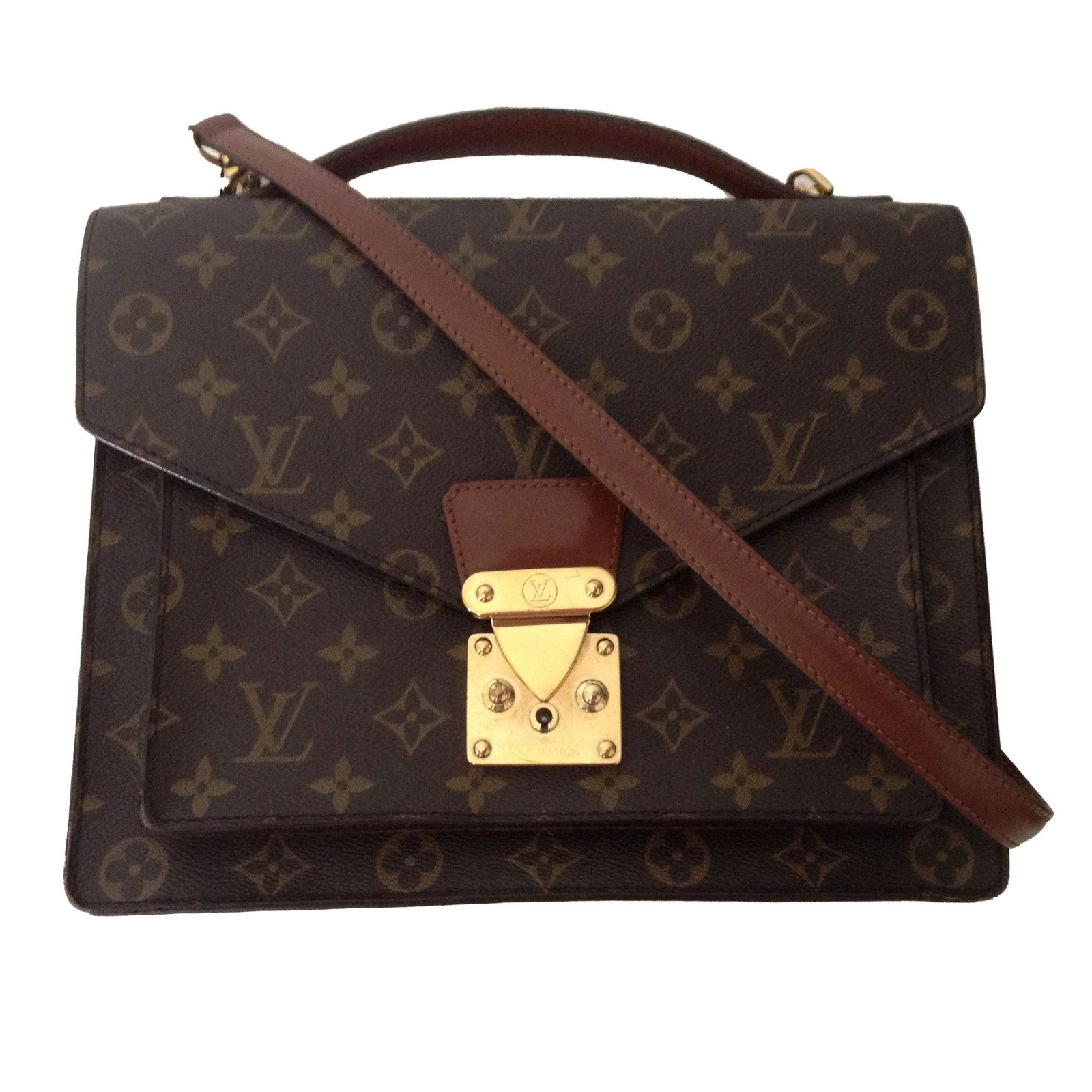 e356422f5882 ... Sacs à main Louis Vuitton Monceau Cuir Marron ref.40145 ...