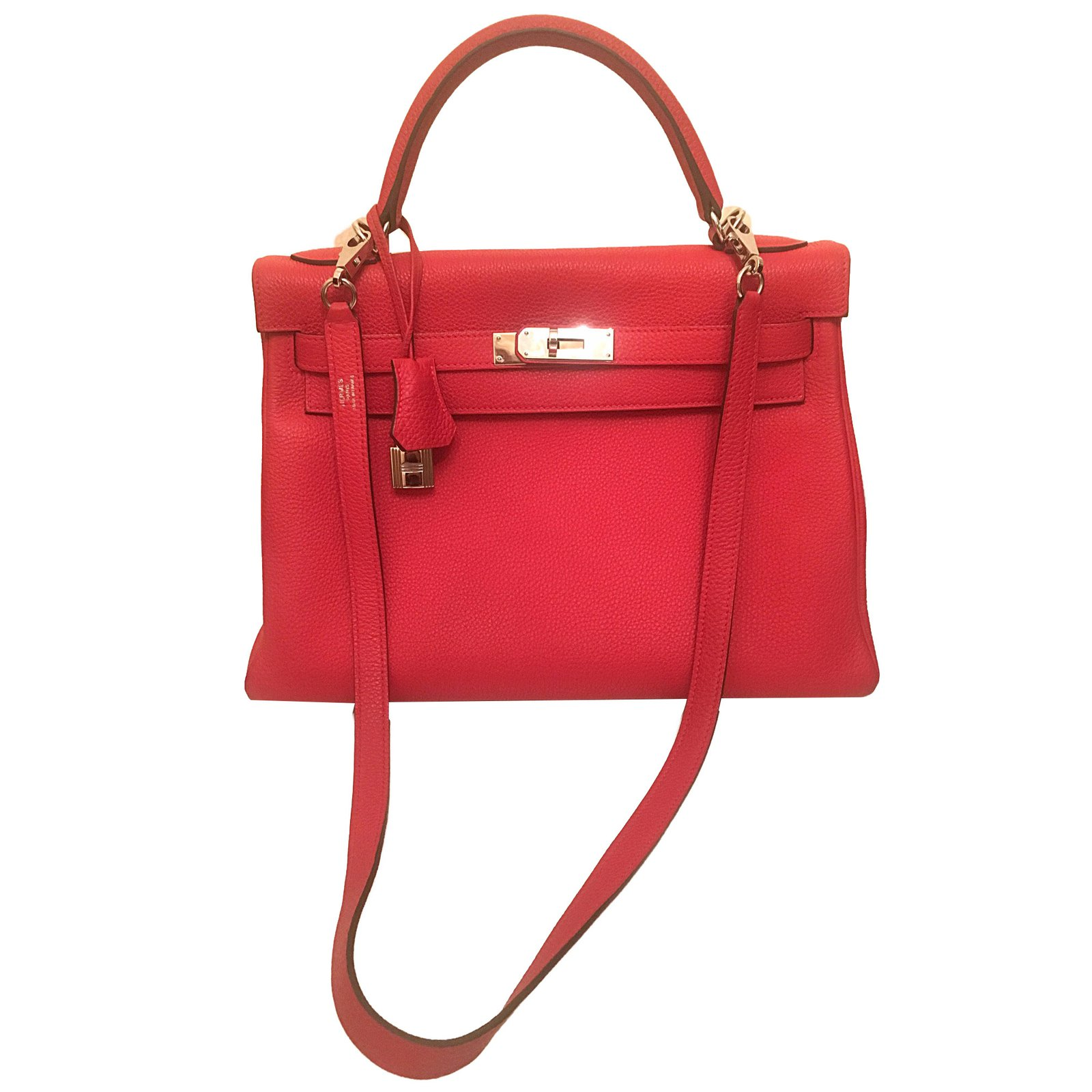 4f08e3ec7ced ... authentic hermès hermes kelly 28 rouge togo handbags leather red ref.40213  f70b5 e5cde