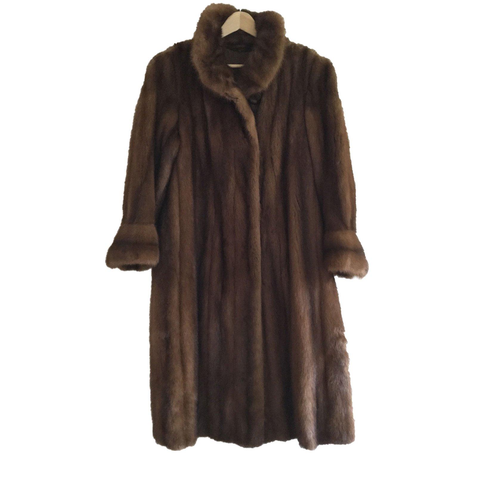 manteaux autre marque manteau vison fourrure marron clair. Black Bedroom Furniture Sets. Home Design Ideas