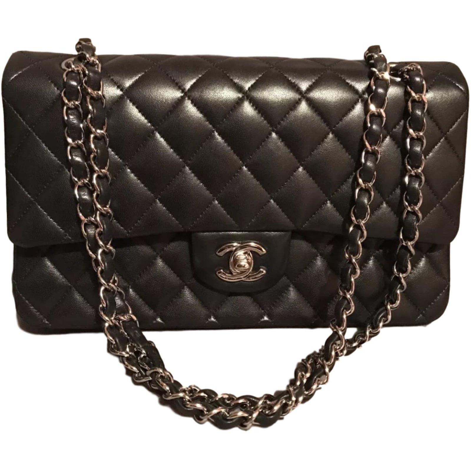 02744b42d11a Sacs à main Chanel Sac Chanel Timeless Cuir Noir ref.40442 - Joli Closet