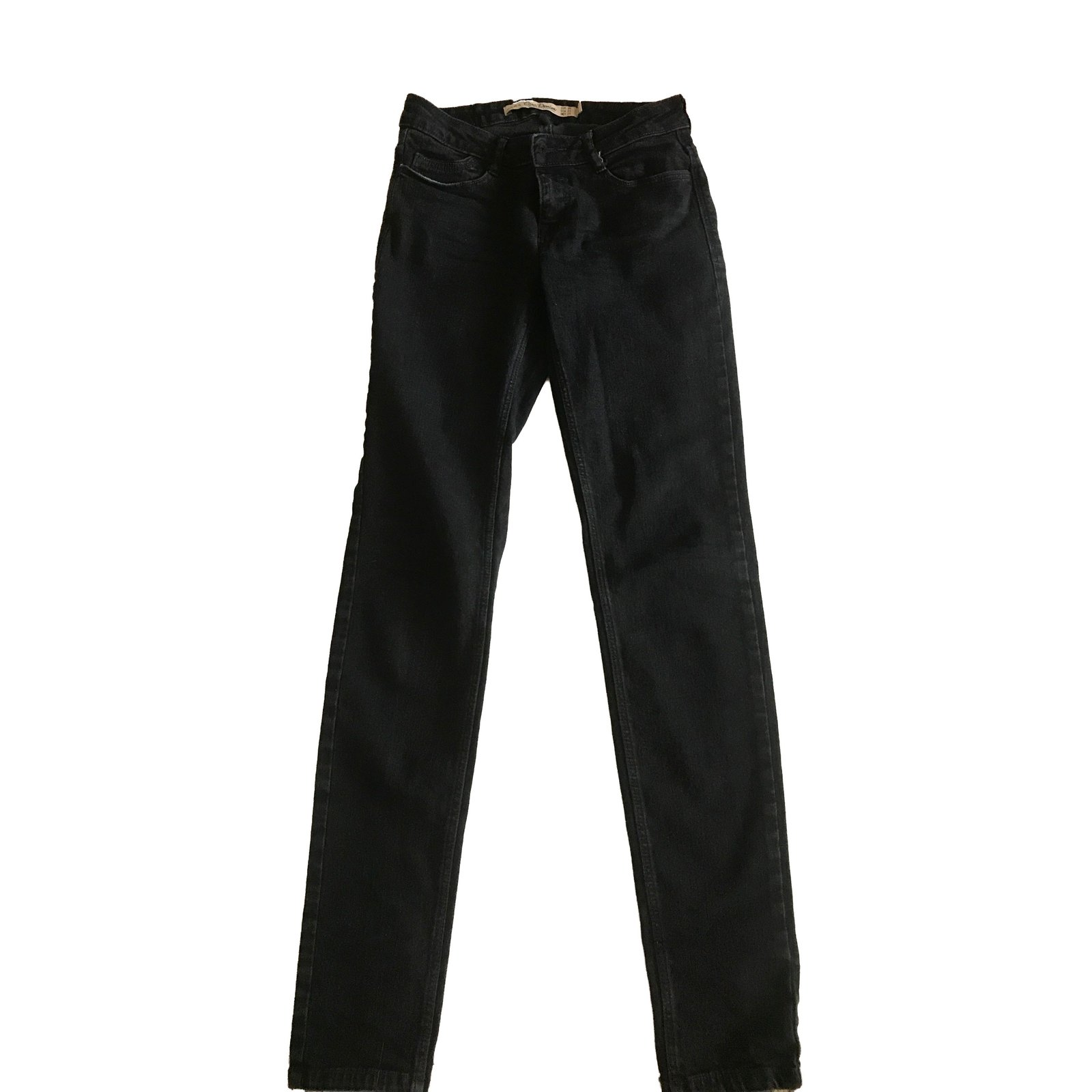 jeans zara jean slim zara coton noir joli closet. Black Bedroom Furniture Sets. Home Design Ideas