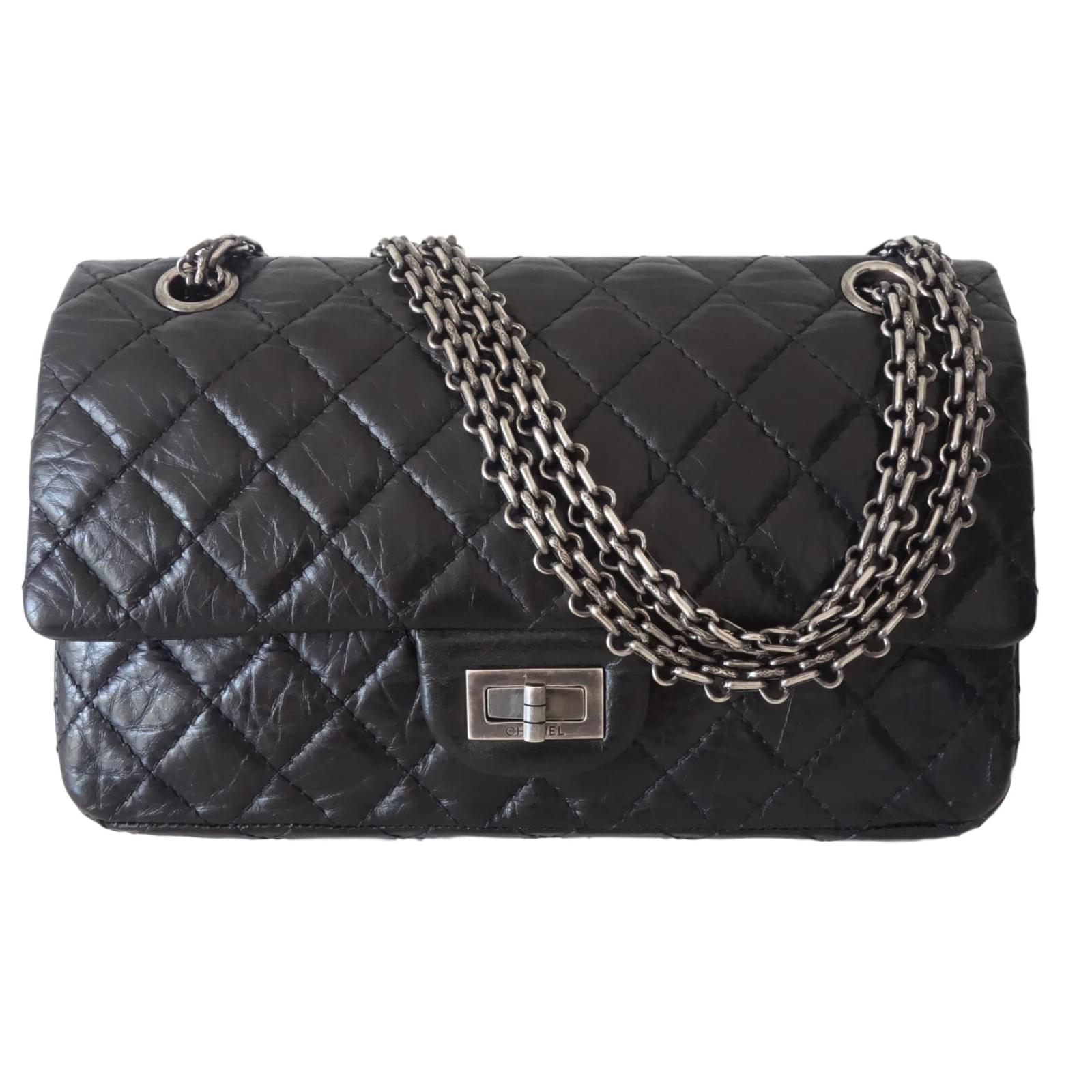 Sacs main chanel sac chanel noir cuir noir ref for Sac chanel interieur