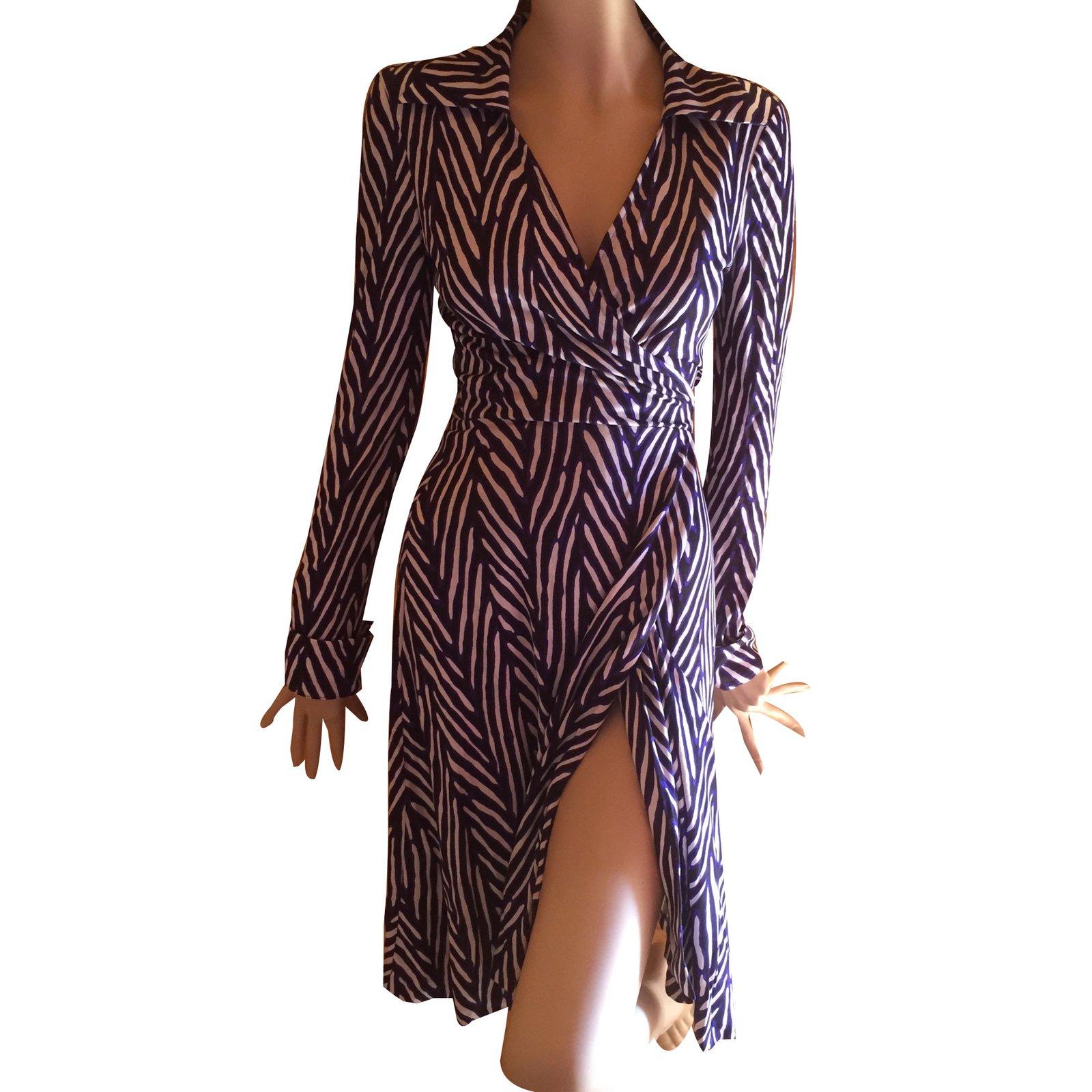 Diane Von Furstenberg Dress Dresses Silk Blue Ref 40575 Joli Closet