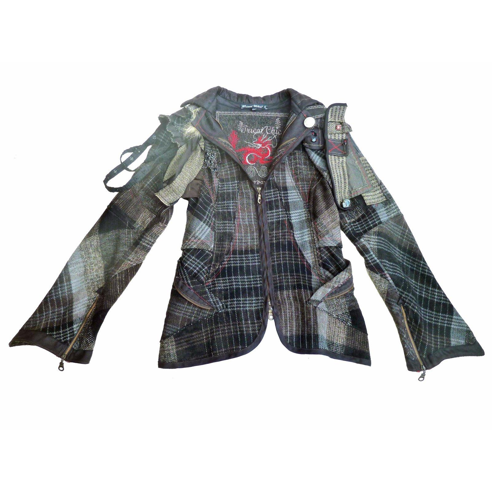 vestes autre marque veste baroque de la marque italienne tricot chic laine gris joli. Black Bedroom Furniture Sets. Home Design Ideas