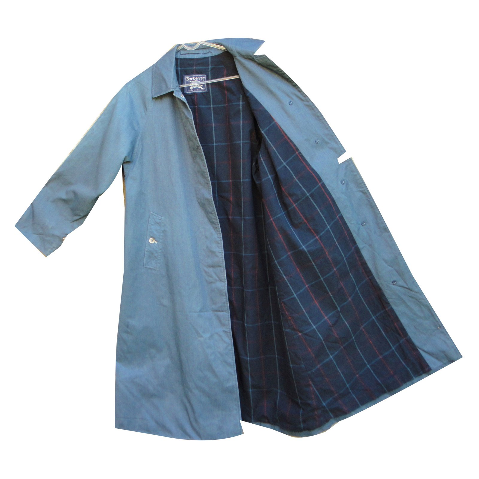 3ac688ce168 Burberry trench coat coats outerwear cotton blue ref joli jpg 1600x1600 Burberry  blue
