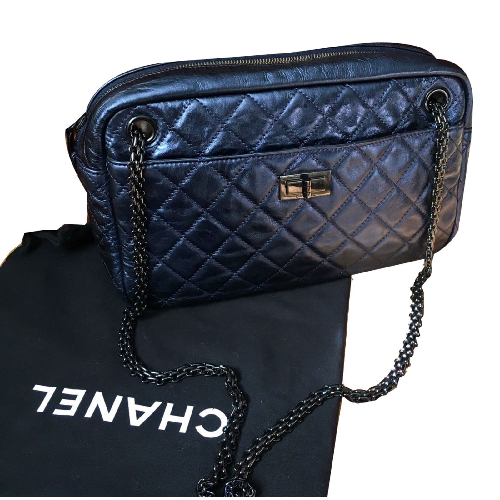 991f7679fcb5 Chanel Camera bag Handbags Leather Purple ref.40703 - Joli Closet