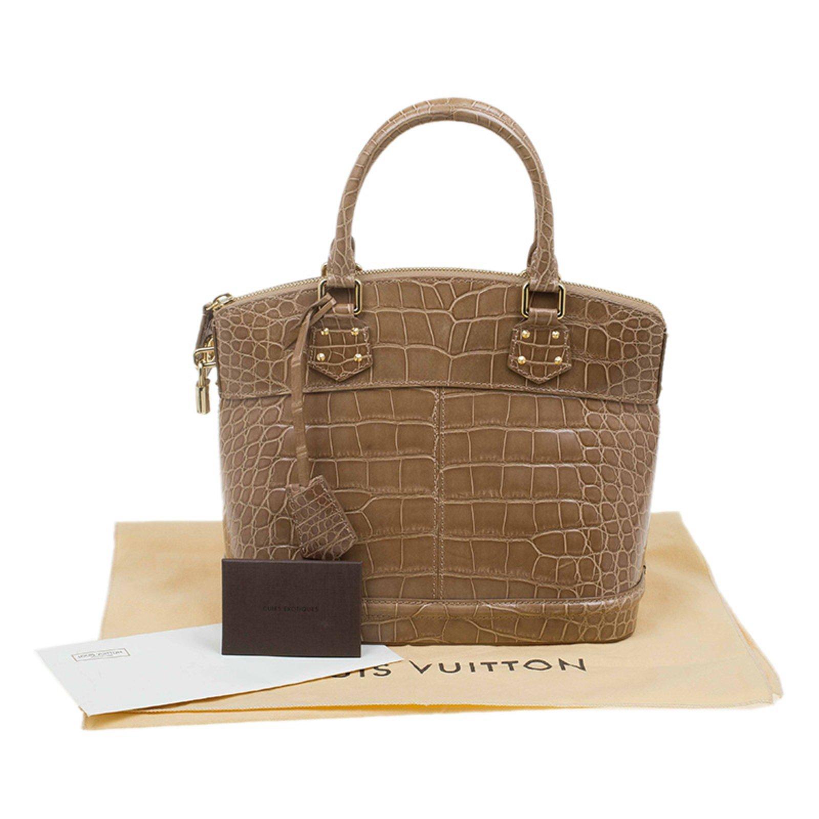 Louis Vuitton Lockit Pm Crocodile Handbags Exotic Leather Beige Ref 40718