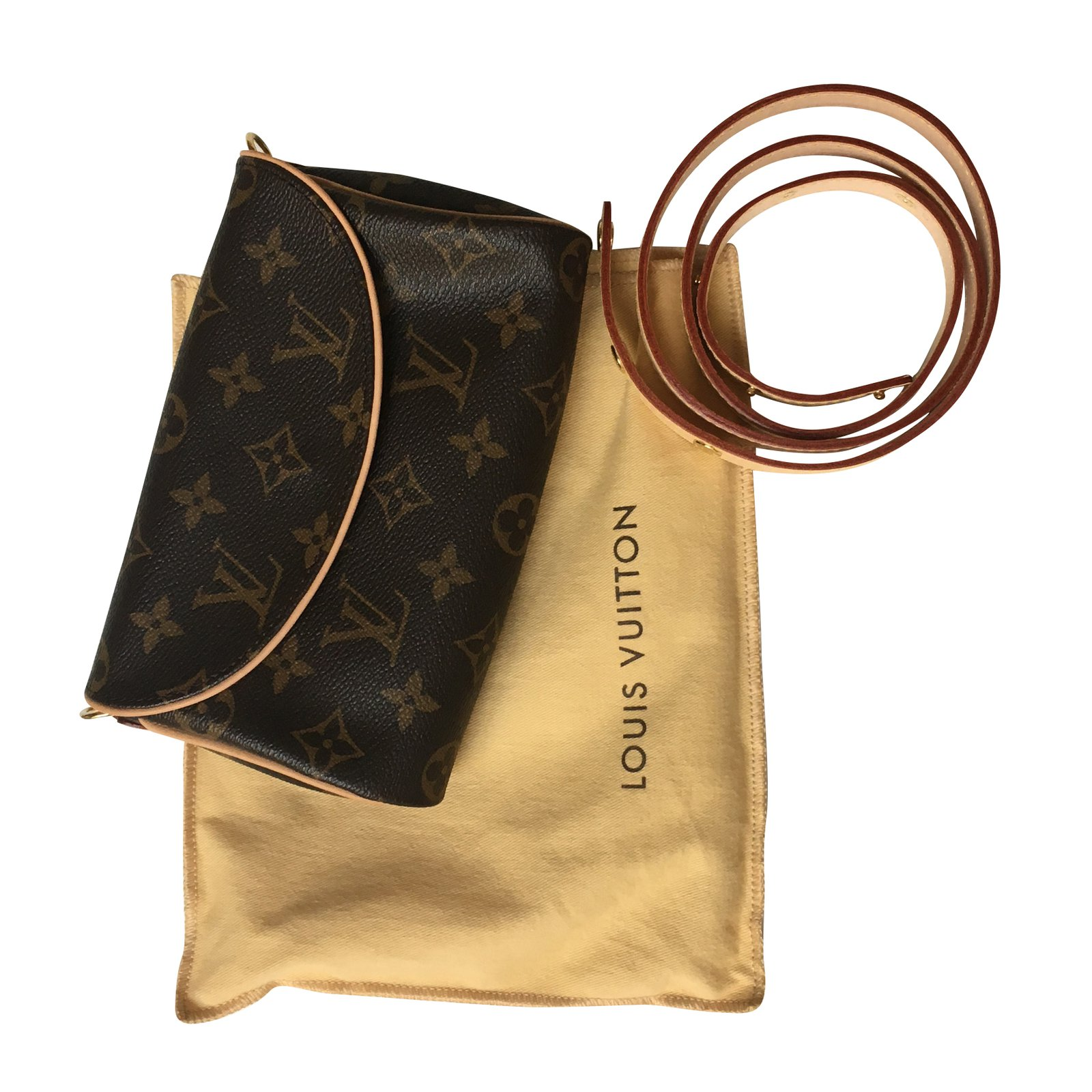 louis vuitton clutch bag. louis vuitton belt clutch bags cloth brown ref.40846 bag