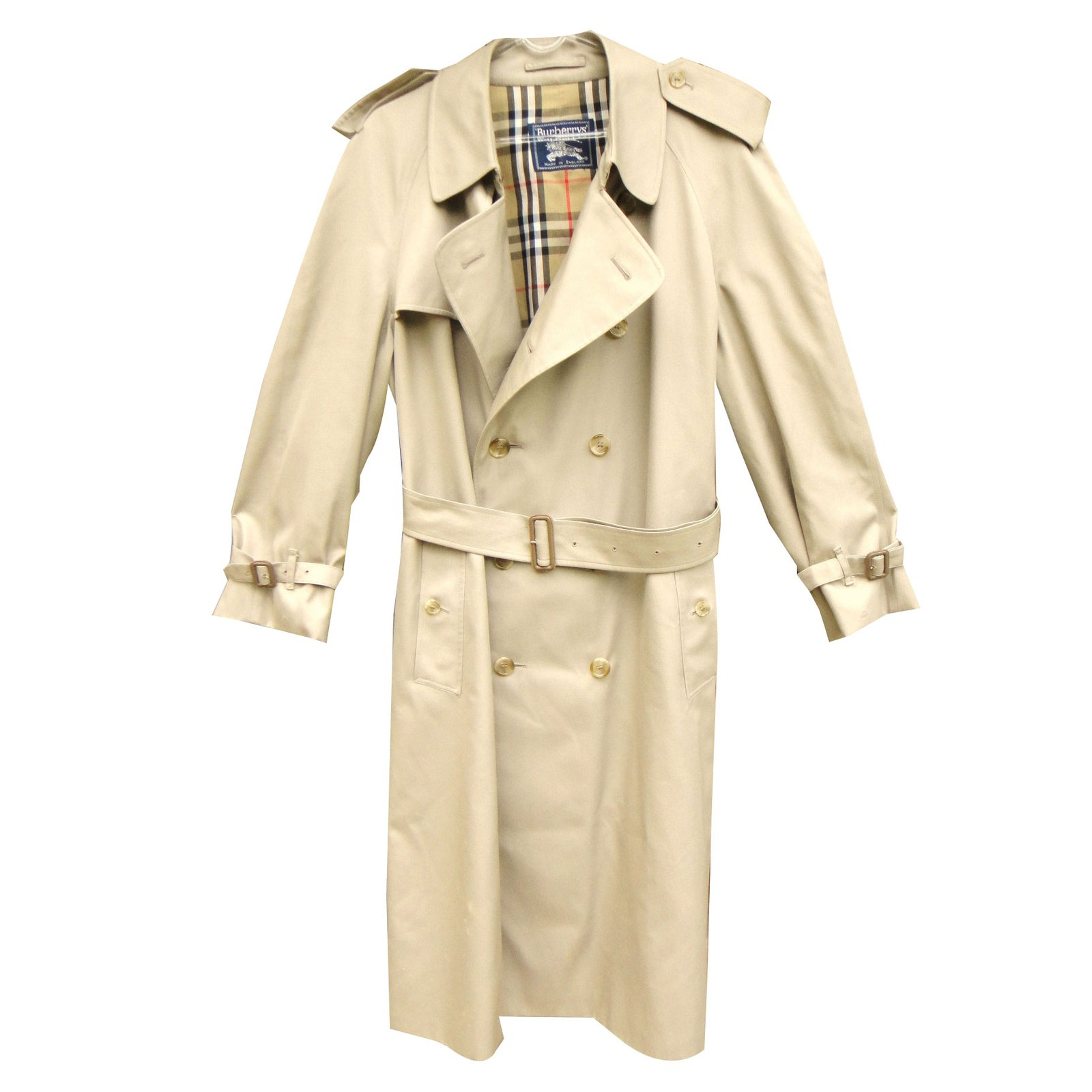 manteaux homme burberry trench coat coton polyester beige joli closet. Black Bedroom Furniture Sets. Home Design Ideas