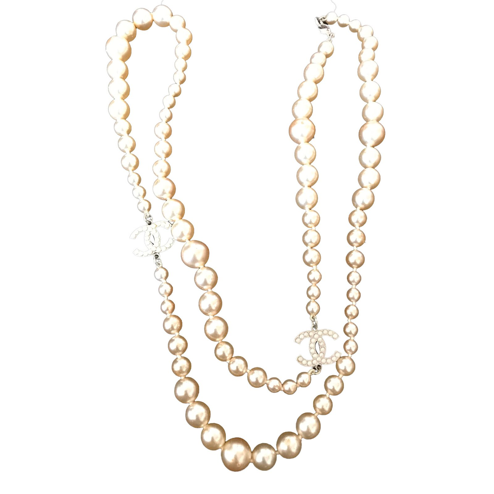 Product Name; Chanel Long Necklace Necklaces Pearl Other Ref 41093
