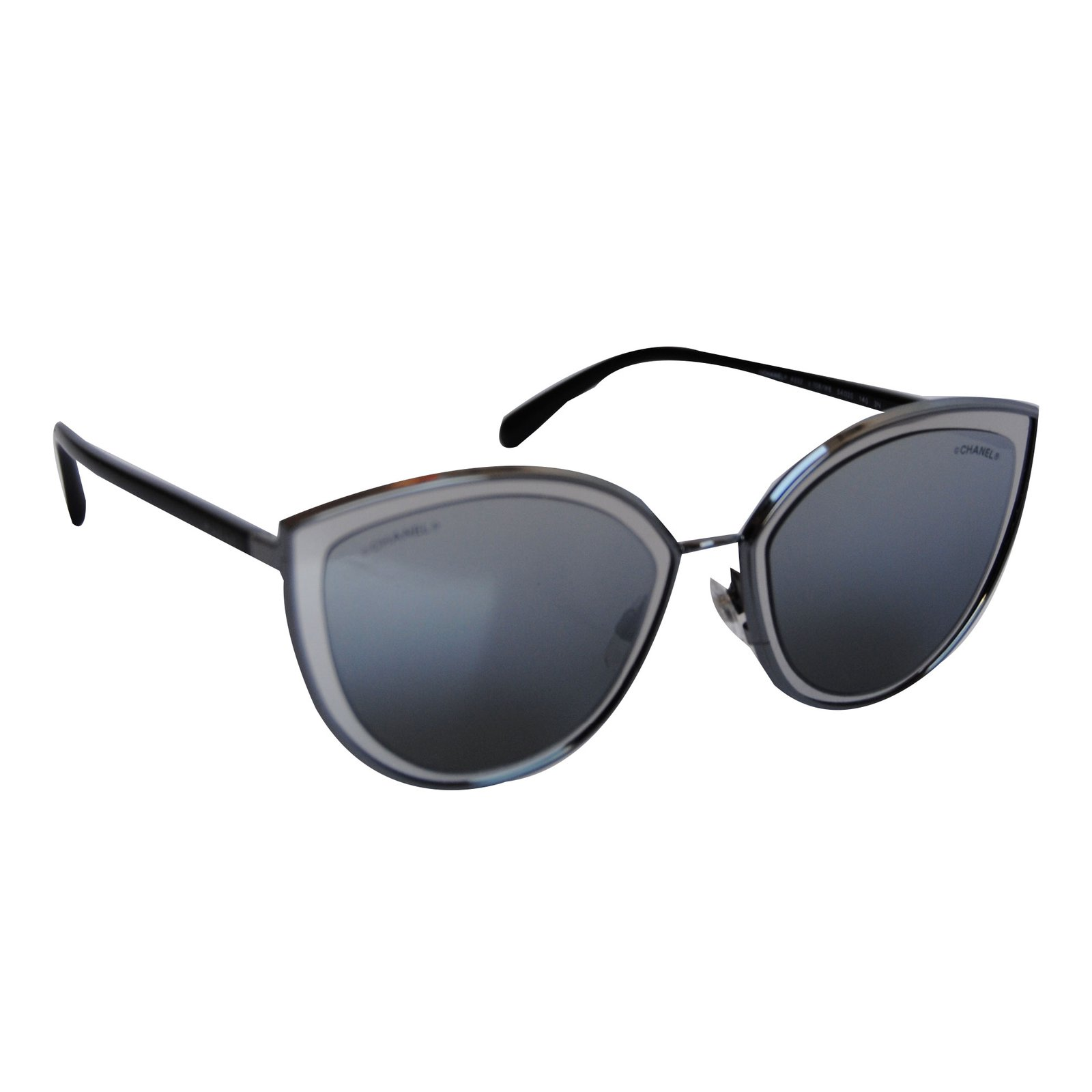 Chanel Summer cat eye sunglasses Sunglasses Metal Silvery ref.41125 ...