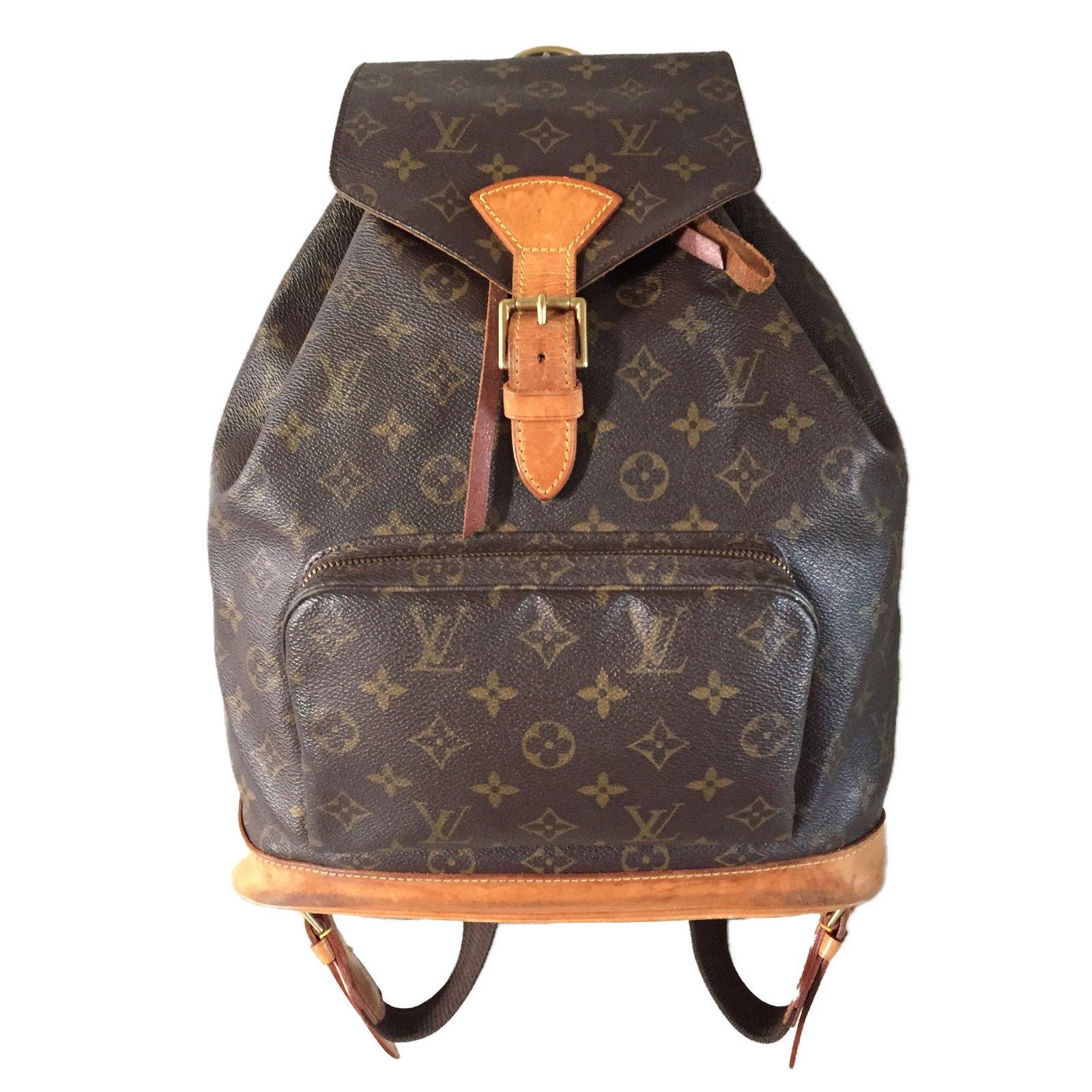 781f60fe454 Sacs à dos Louis Vuitton sac à dos MONTSOURIS Louis Vuitton Synthétique  Marron ref.41157 ...