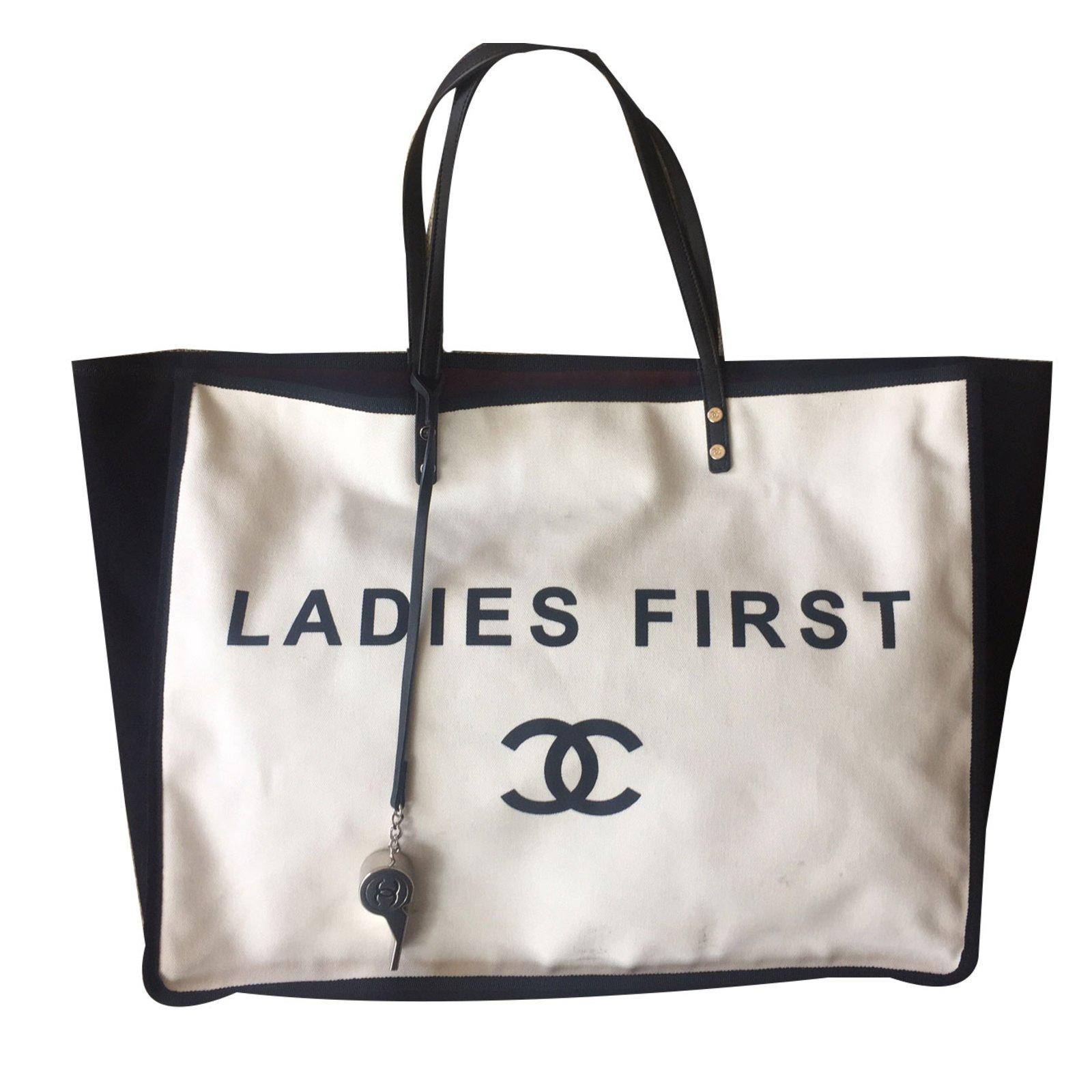 Chanel Handbag Handbags Cotton Cream Ref 41286