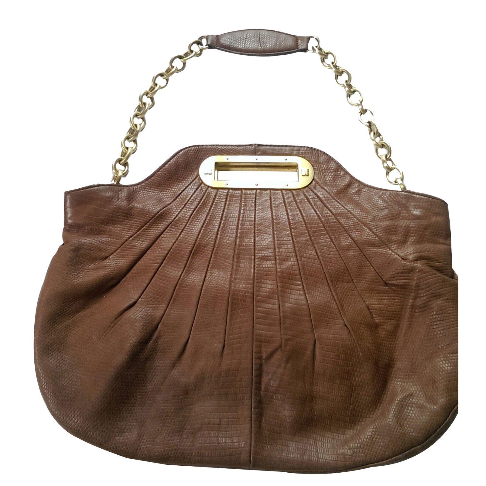 Bcbg Max Azria Handbag Handbags Leather Caramel Ref 41352