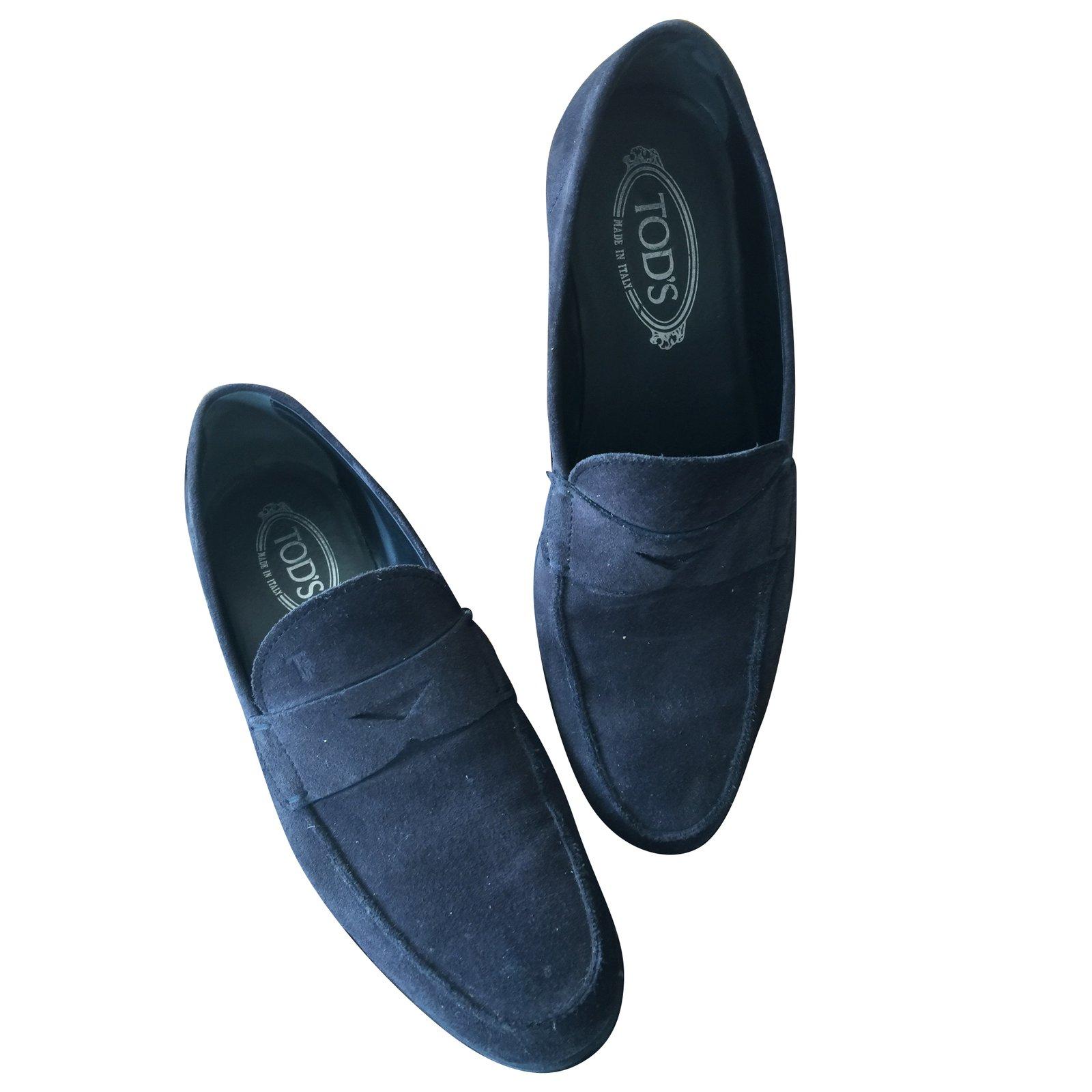 mocassins homme tod 39 s mocassins homme daim bleu marine joli closet. Black Bedroom Furniture Sets. Home Design Ideas