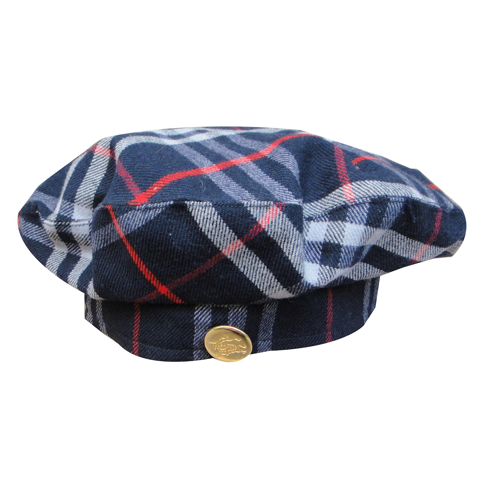 2fceec95874 Burberry Beret Hats Wool Navy blue ref.41701 - Joli Closet