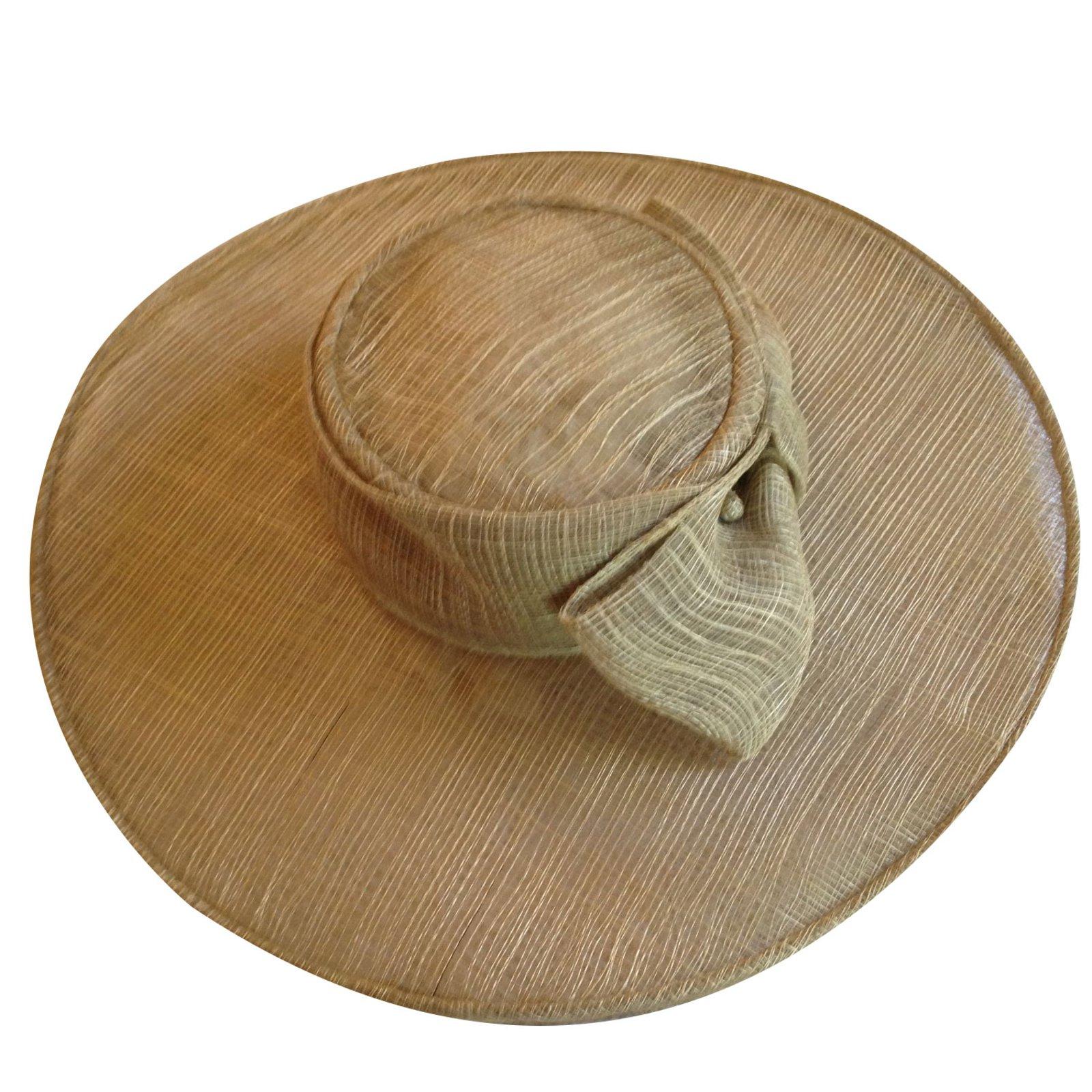 Christian Dior Hat Hats Straw Beige ref.41845 - Joli Closet 5981c829b6f