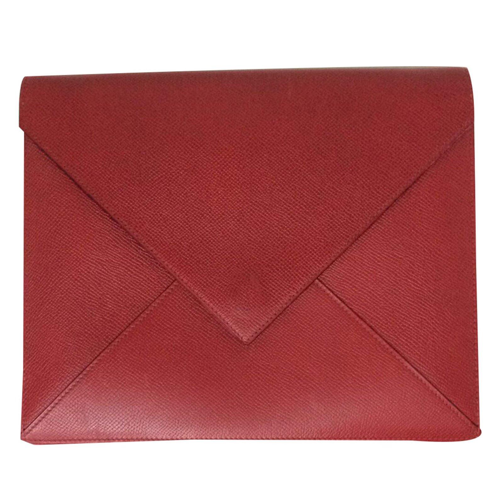 le dernier ee9a4 1ee25 Superbe Pochette enveloppe Hermès en cuir bicolore !