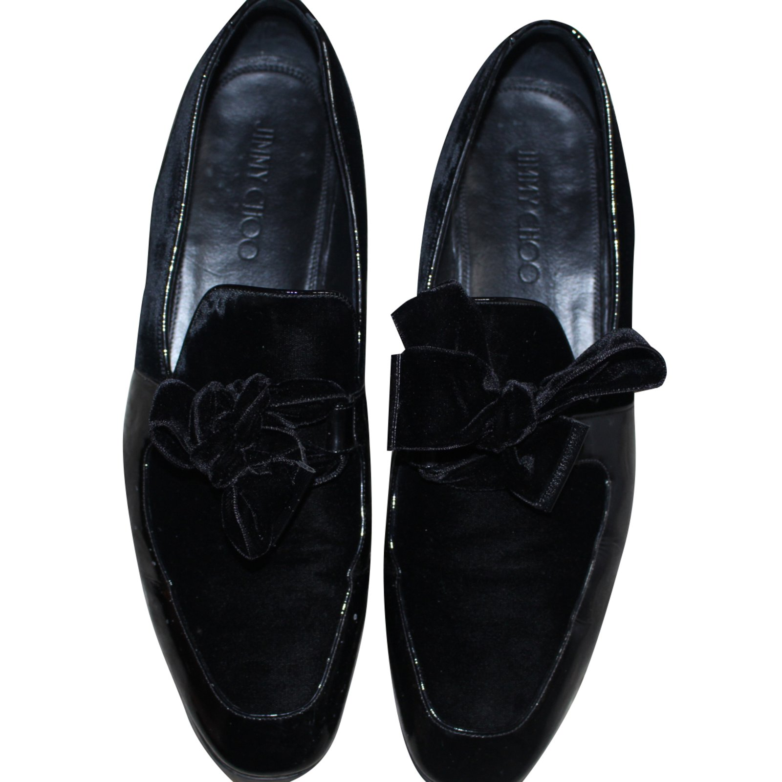 86a68987d233 Jimmy Choo Loafers Slip on Loafers Slip ons Patent leather Black ref.42171