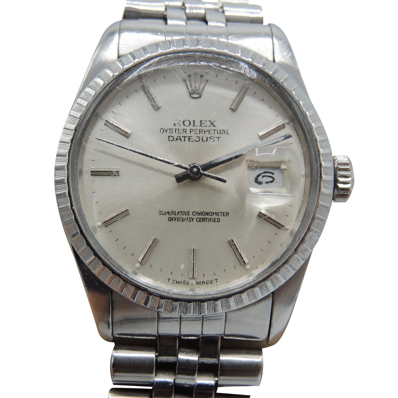Rolex OYSTER PERPETUAL DATEJUST VINTAGE Automatic watches Steel Silvery  ref.42259 22b3dc863f1f