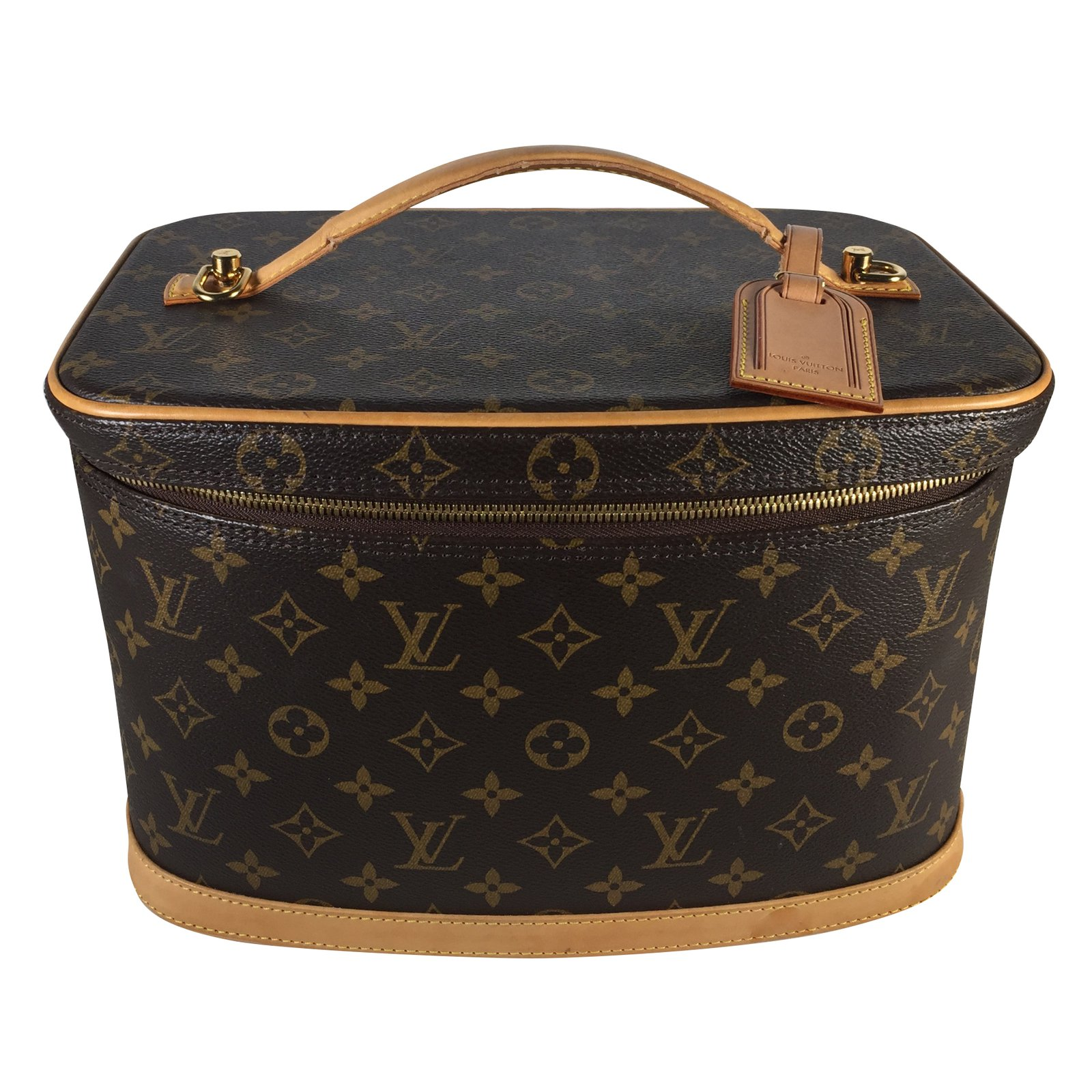 e21f2dc848af3 Louis Vuitton Nice vanity case Travel bag Leather,Cloth Brown ref .