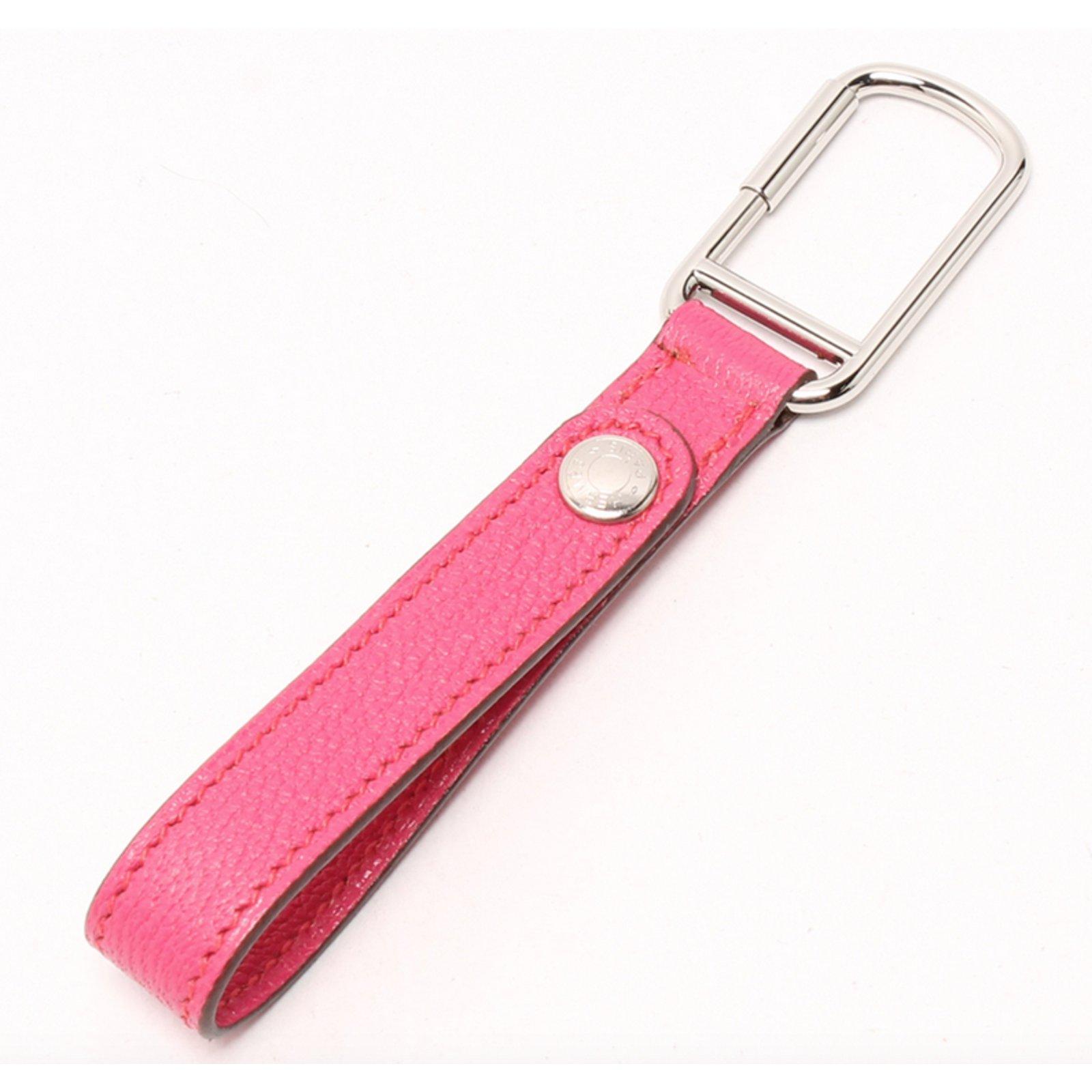 91b202b8cc Petite maroquinerie Hermès Porte clés bijou de sac Cuir Rose ref.42292