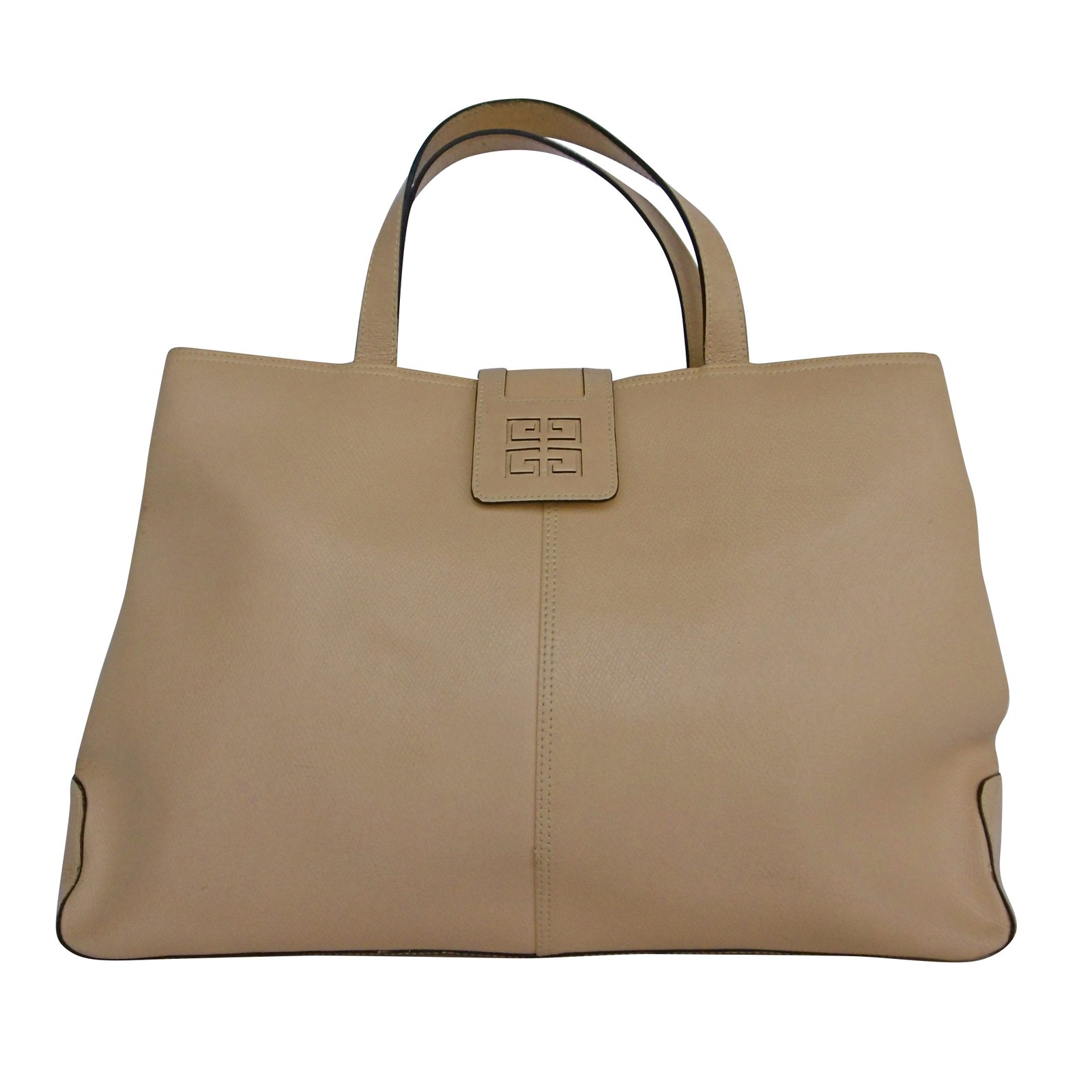 001af0ad37 Givenchy Givenchy Leather Tote Hand Bag Handbags Leather Beige ref.42568
