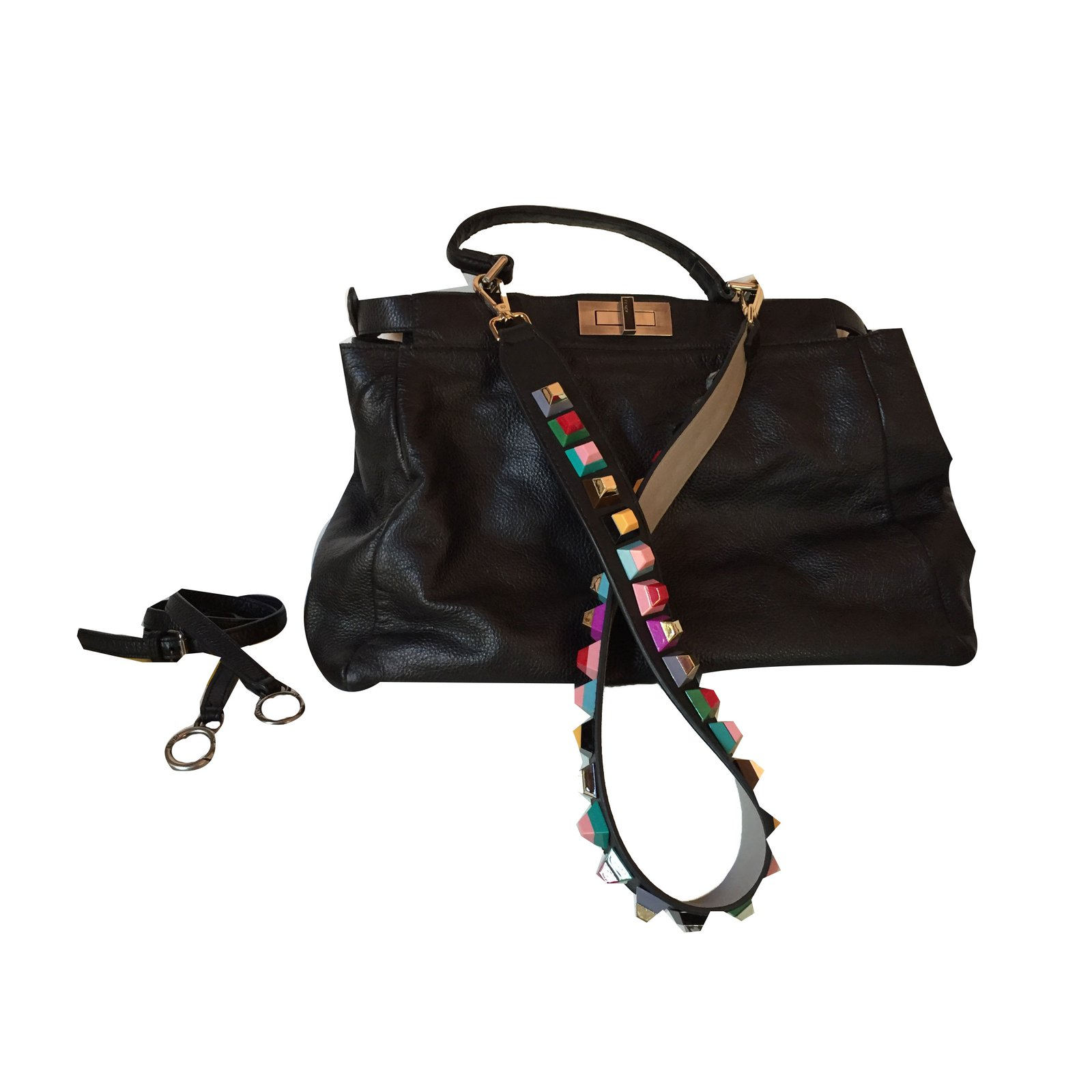 Fendi Fendi Peekaboo Handbags Leather Black ref.42702 - Joli Closet 67672164947b8