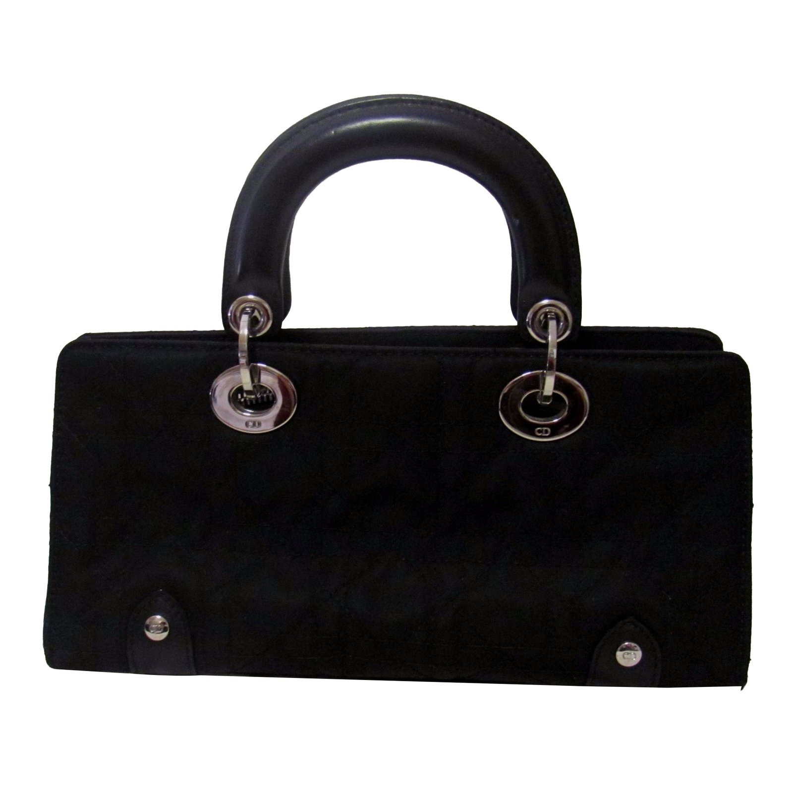 3f2e675a3e7e Dior Small Lady Dior bag Handbags Cotton Black ref.42747