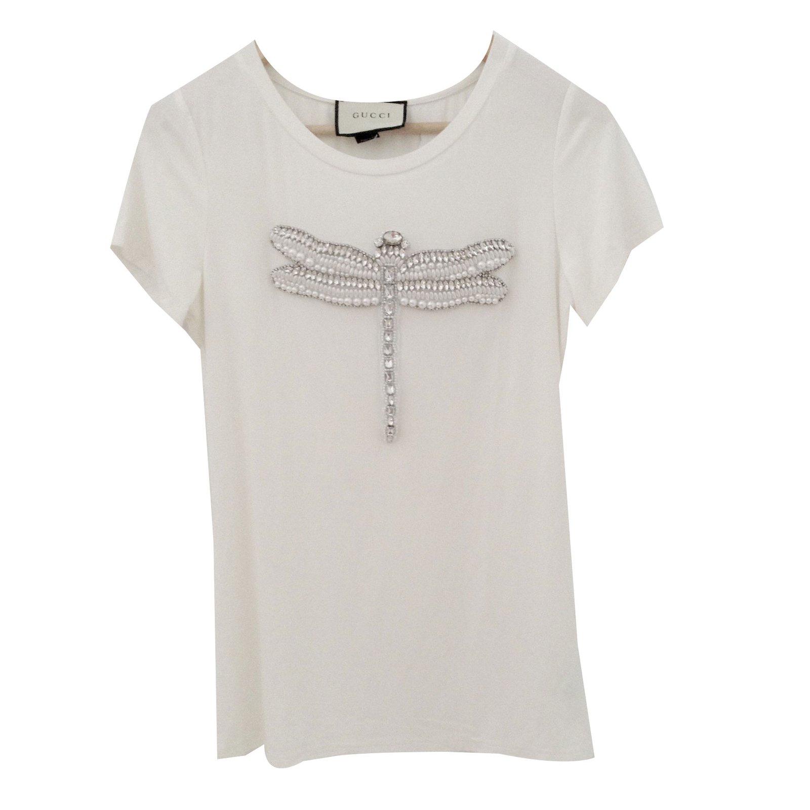 tops gucci t shirt gucci blanc coton blanc joli closet. Black Bedroom Furniture Sets. Home Design Ideas