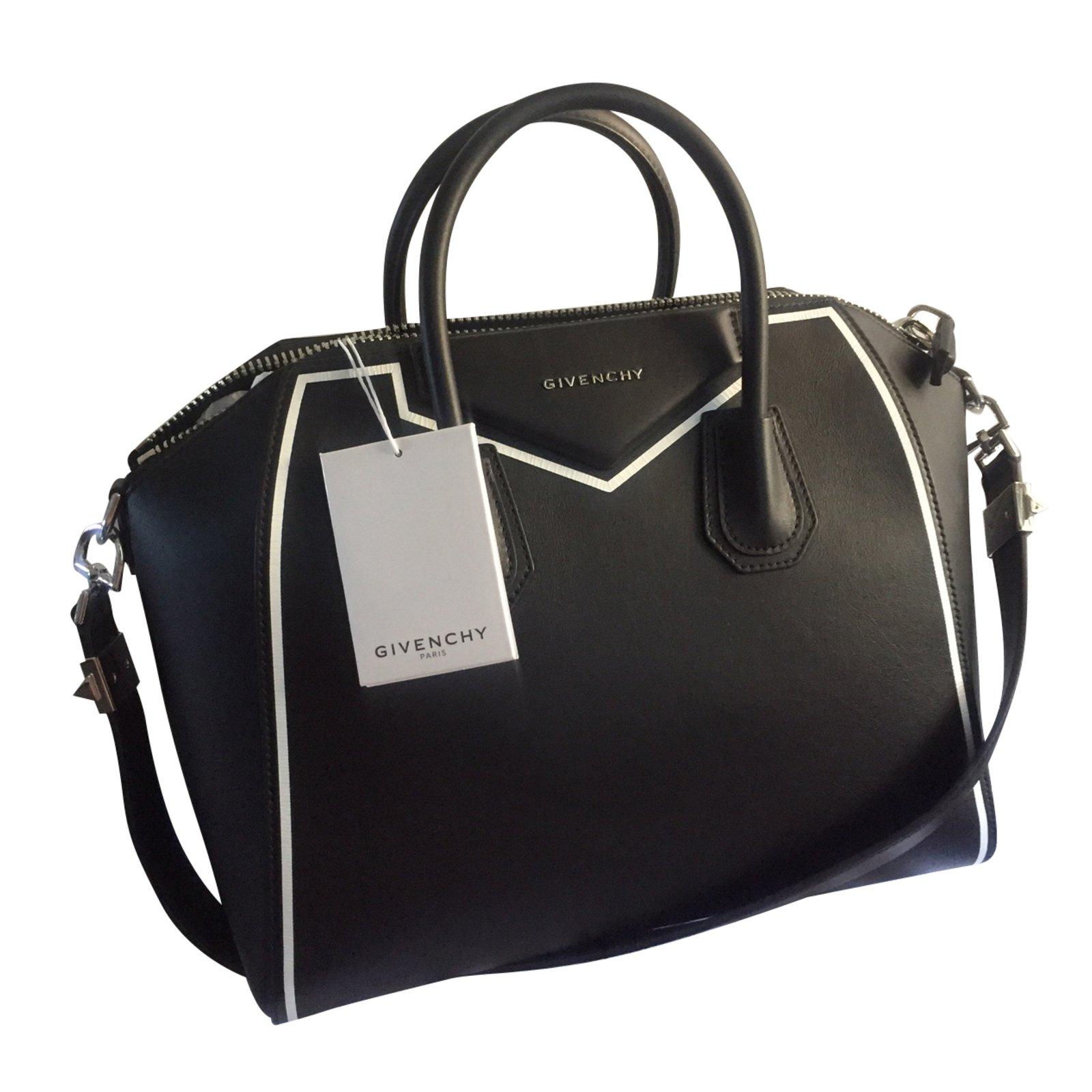 Givenchy Antigona Medium Handbags Leather Black Ref 42827