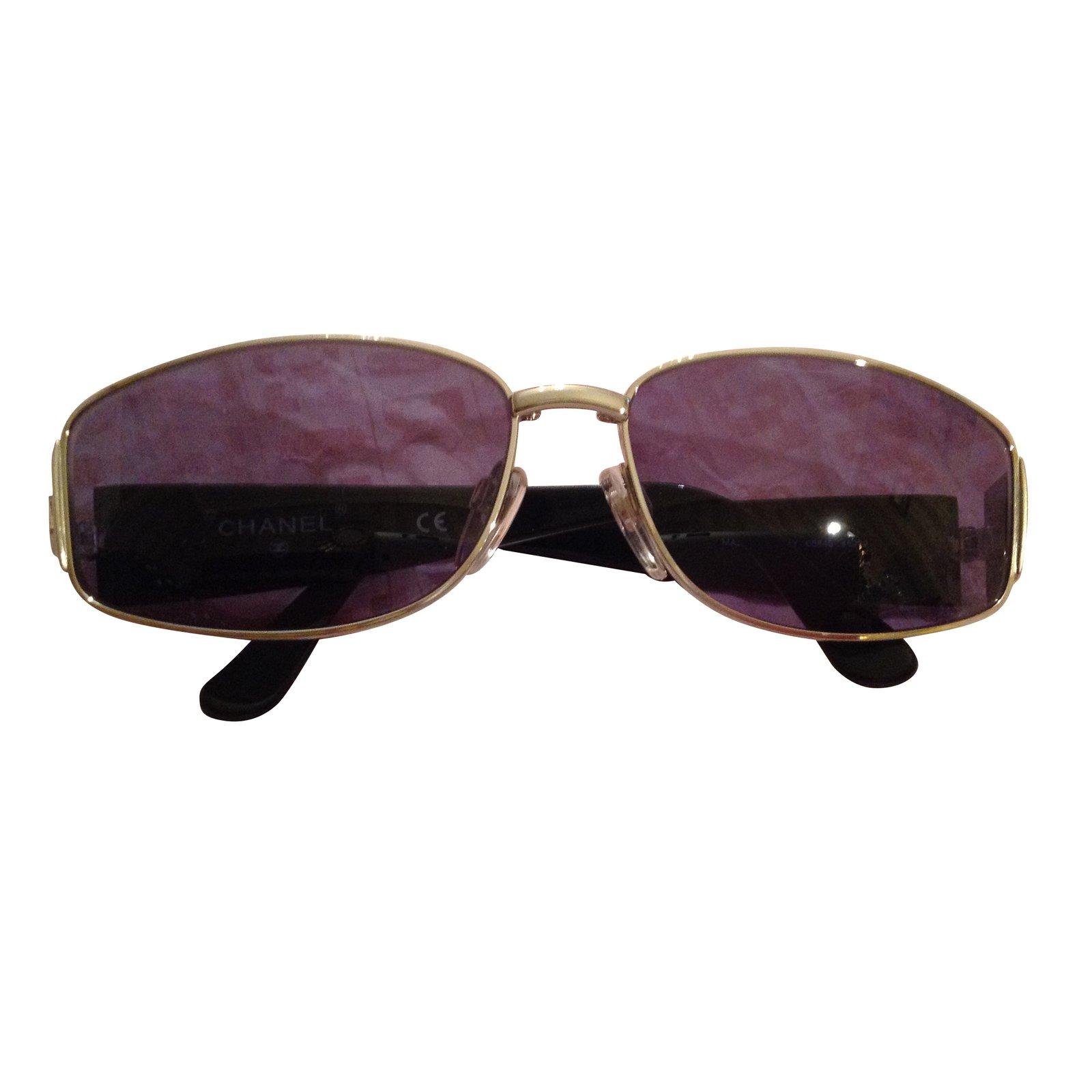 a3164bc5f3f Lunettes Chanel Solaire Résine Noir ref.42933 - Joli Closet