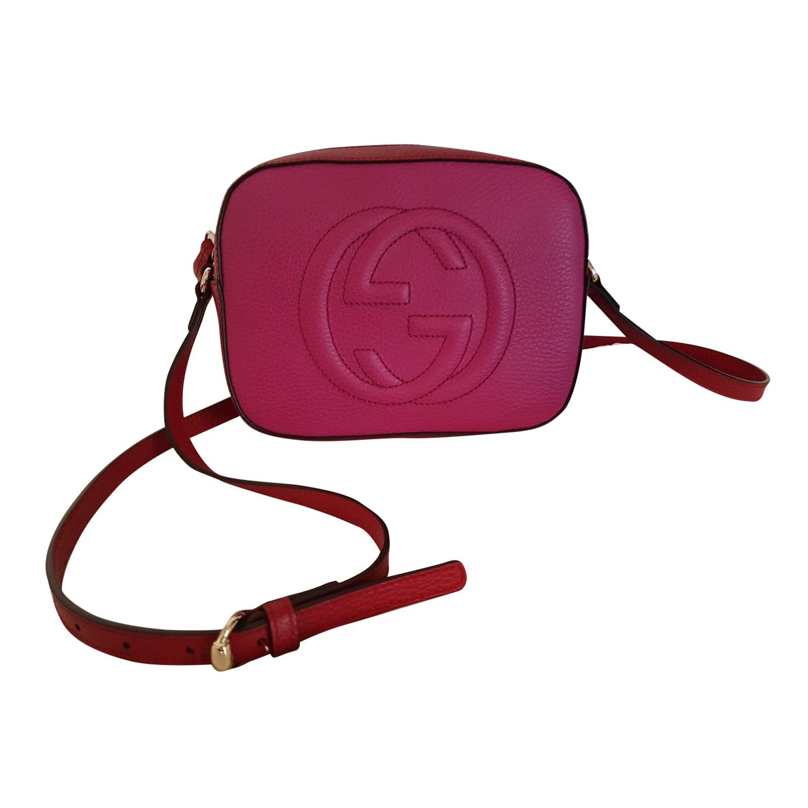 gucci used. Gucci Disco Bag Soho Double Color Red /fucsia New No Used With Receipt Handbags