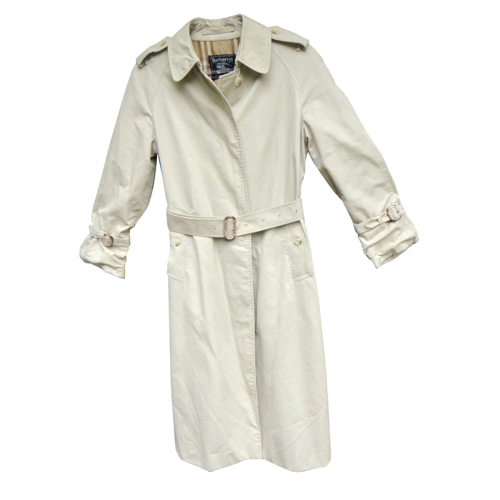 Burberry Trench coat Trench coats Cotton,Polyester Eggshell ref.43147 bcafa20c6d8