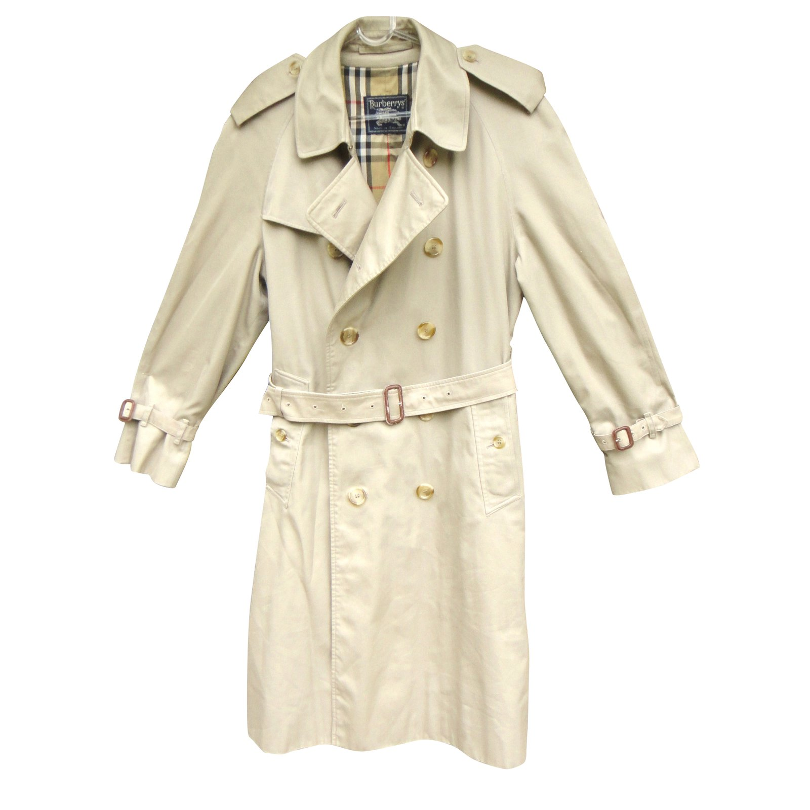 manteaux homme burberry trench coat coton polyester beige. Black Bedroom Furniture Sets. Home Design Ideas