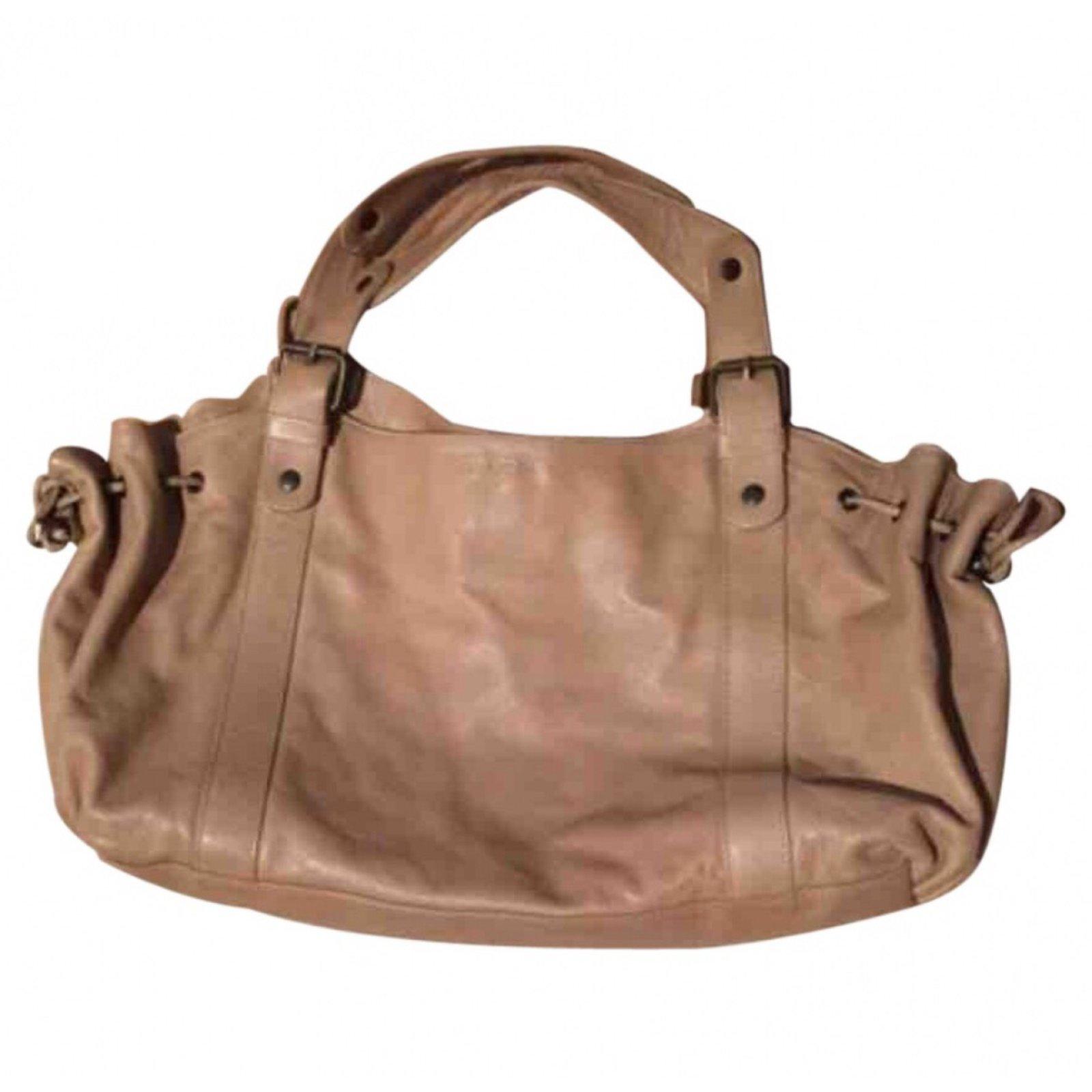 Gerard Darel Handbags Leather Beige Ref 43249