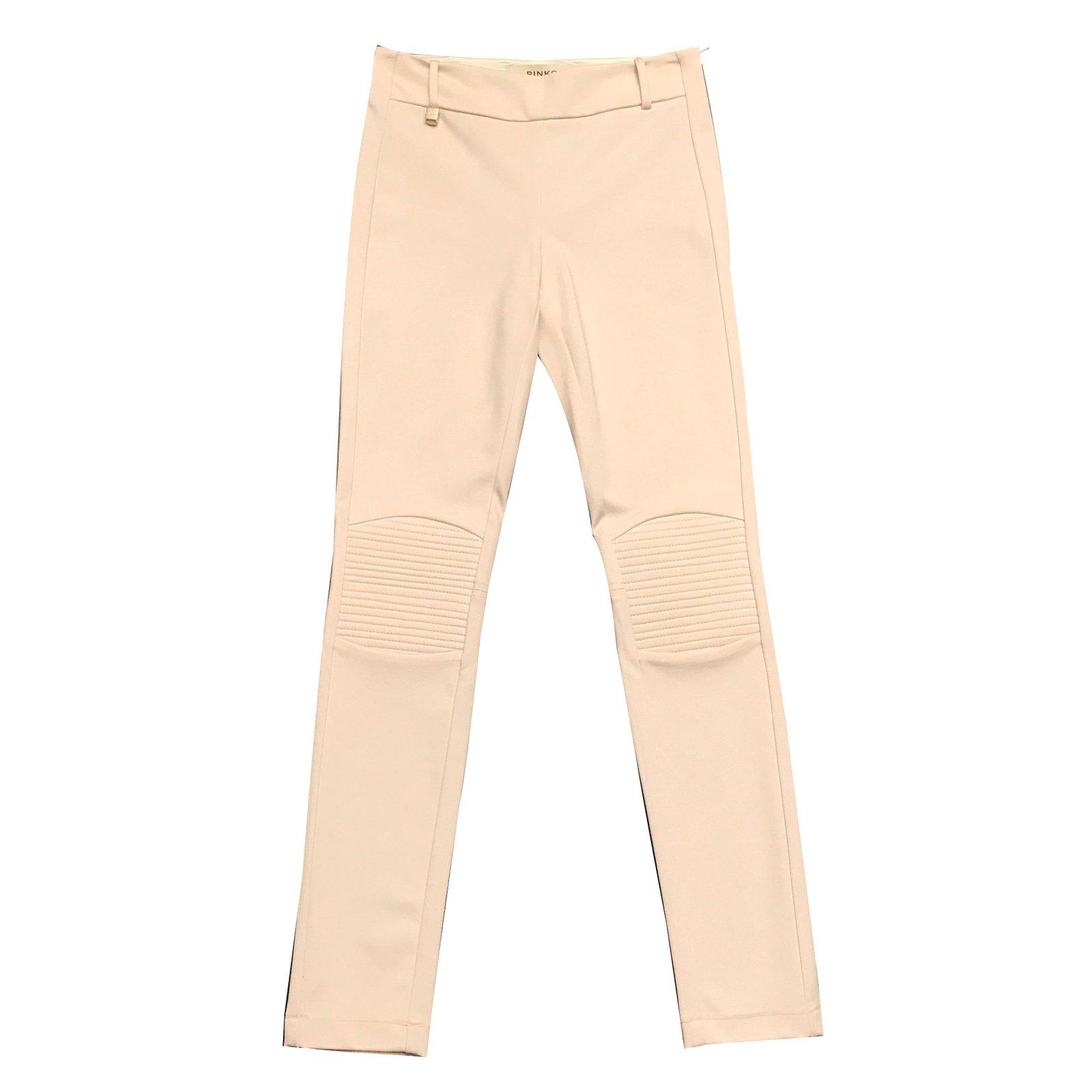 Pinko Pants, leggings Pants, leggings Viscose Beige ref.43366 ...