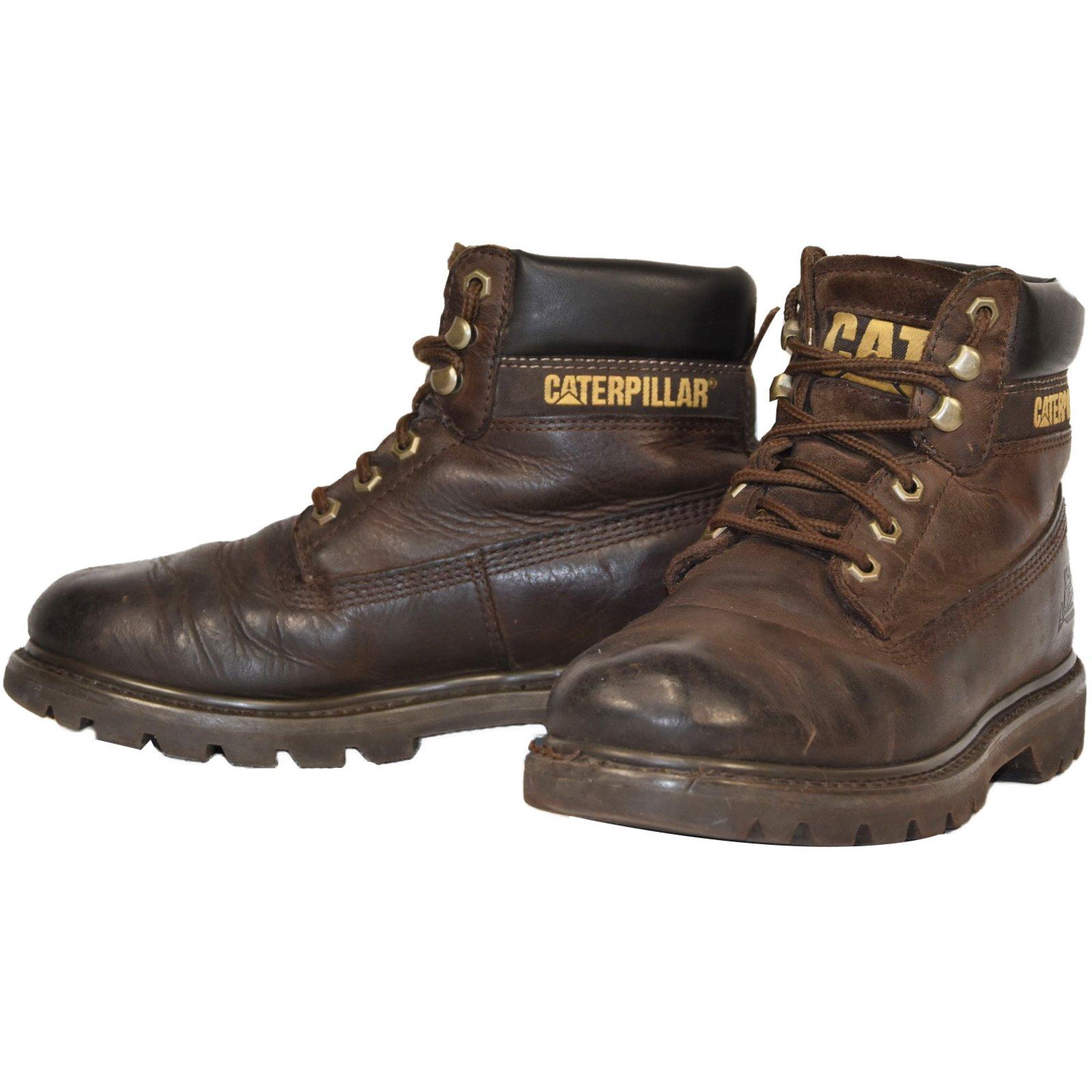 bottes boots autre marque bottines caterpillar colorado shukka homme uk 6 cuir marron. Black Bedroom Furniture Sets. Home Design Ideas