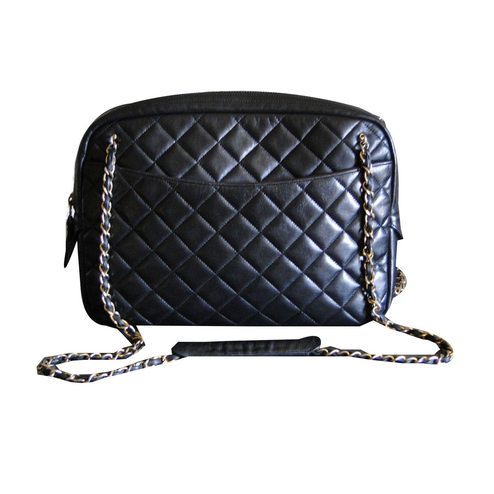 Sacs à main Chanel CAMERA Cuir Noir ref.43647 - Joli Closet ea62b5db99ff