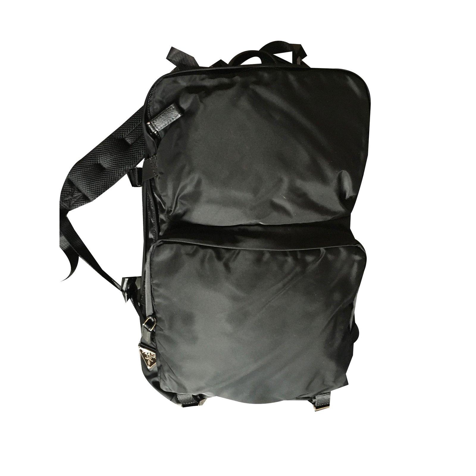 2706064c900c Prada Backpack Bags Briefcases Nylon Black ref.43965 - Joli Closet