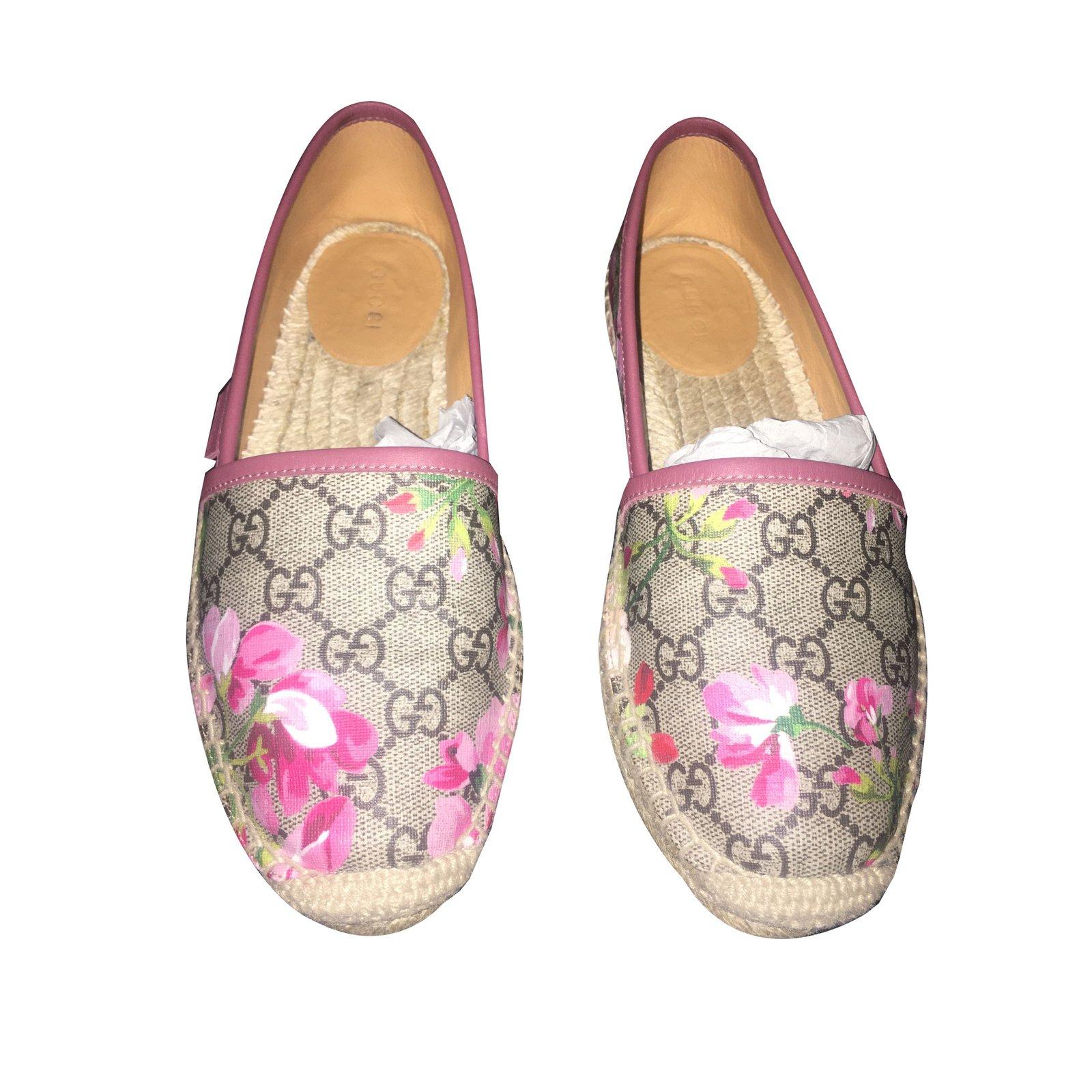 78423e02bf5 Gucci Gucci Bloom Espadrilles Espadrilles Leather Pink ref.44172 ...