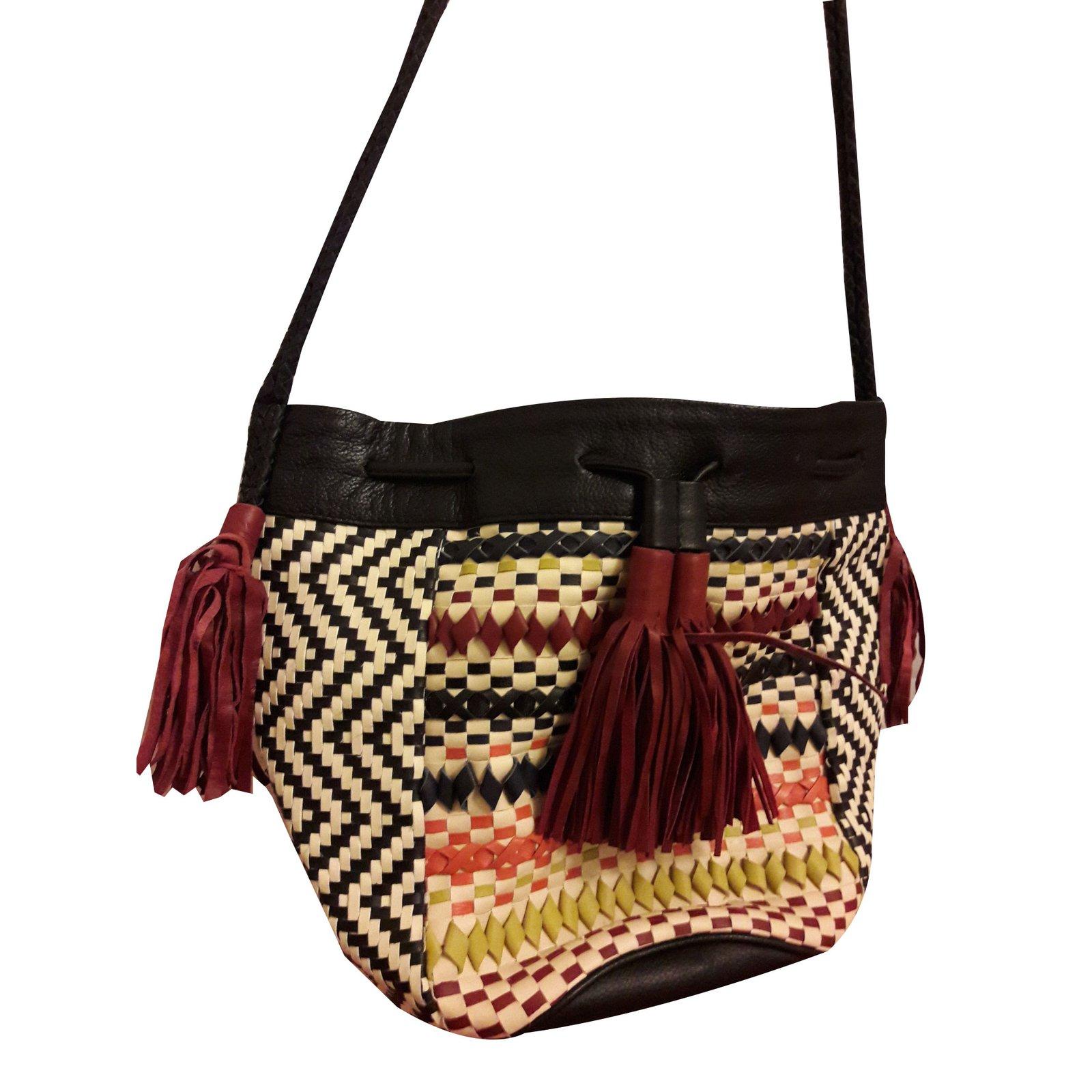 Antik Batik Handbag Handbags Pony Hair Black Ref 44191