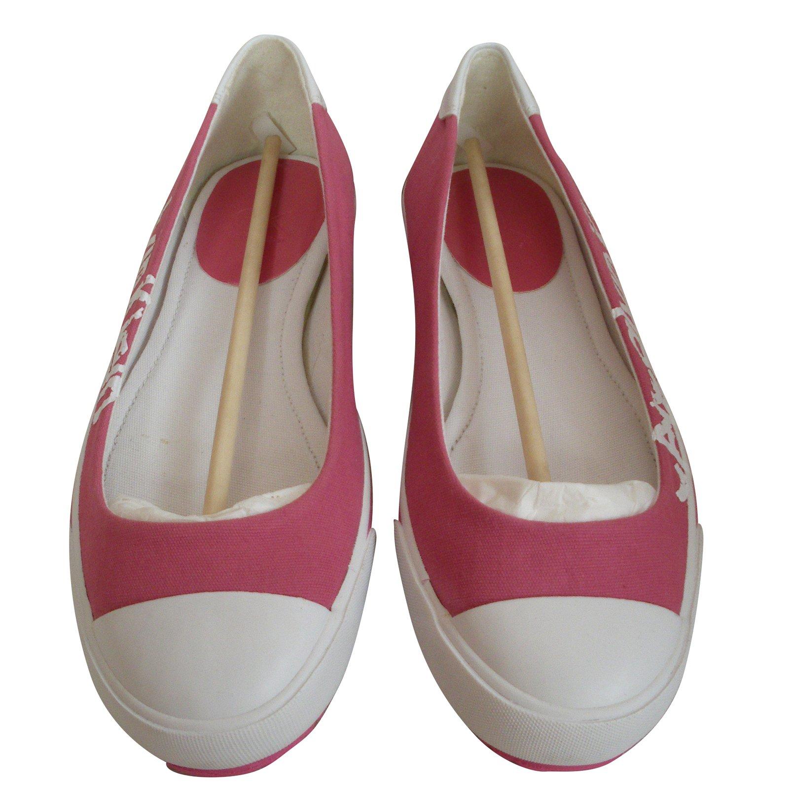 ef4b00e8b28b Calvin Klein Ballet flats Ballet flats Rubber,Cloth Pink ref.44238 ...