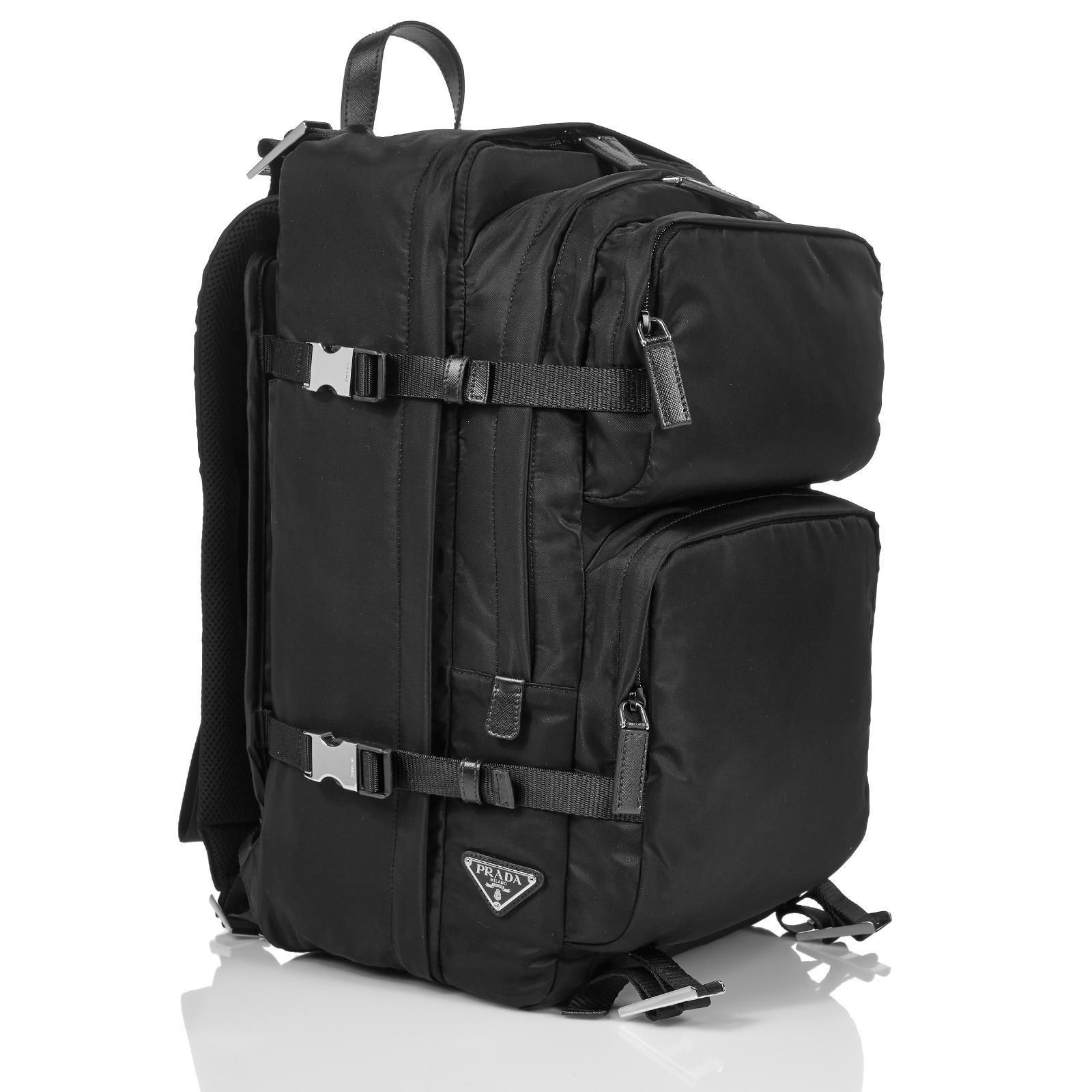 7fca16f918ada7 Prada Backpack Bags Briefcases Nylon Black ref.44597 - Joli Closet