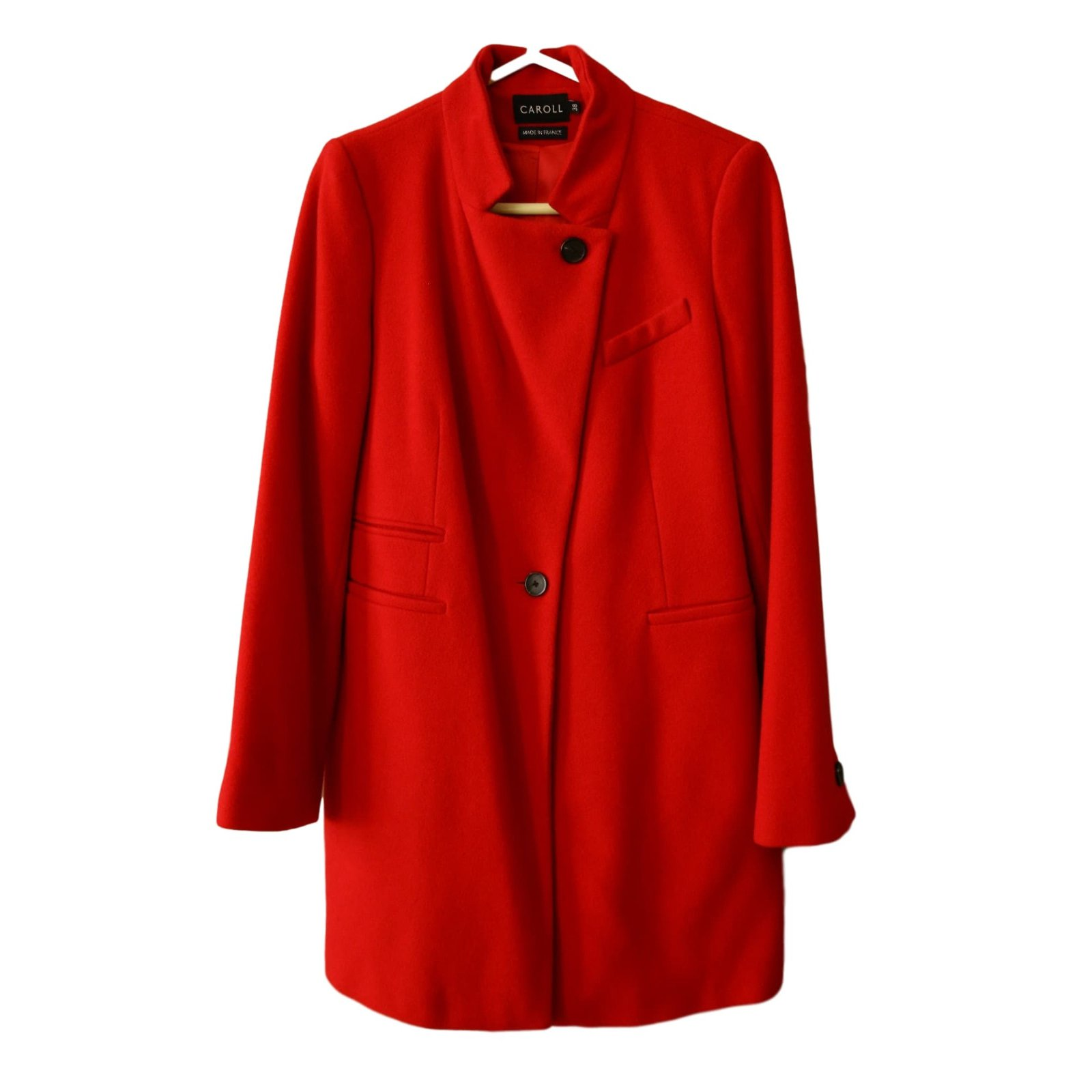 Caroll Ref Manteaux laine Manteau Cachemire polyamide Rouge 44719 wPXiuTOZk