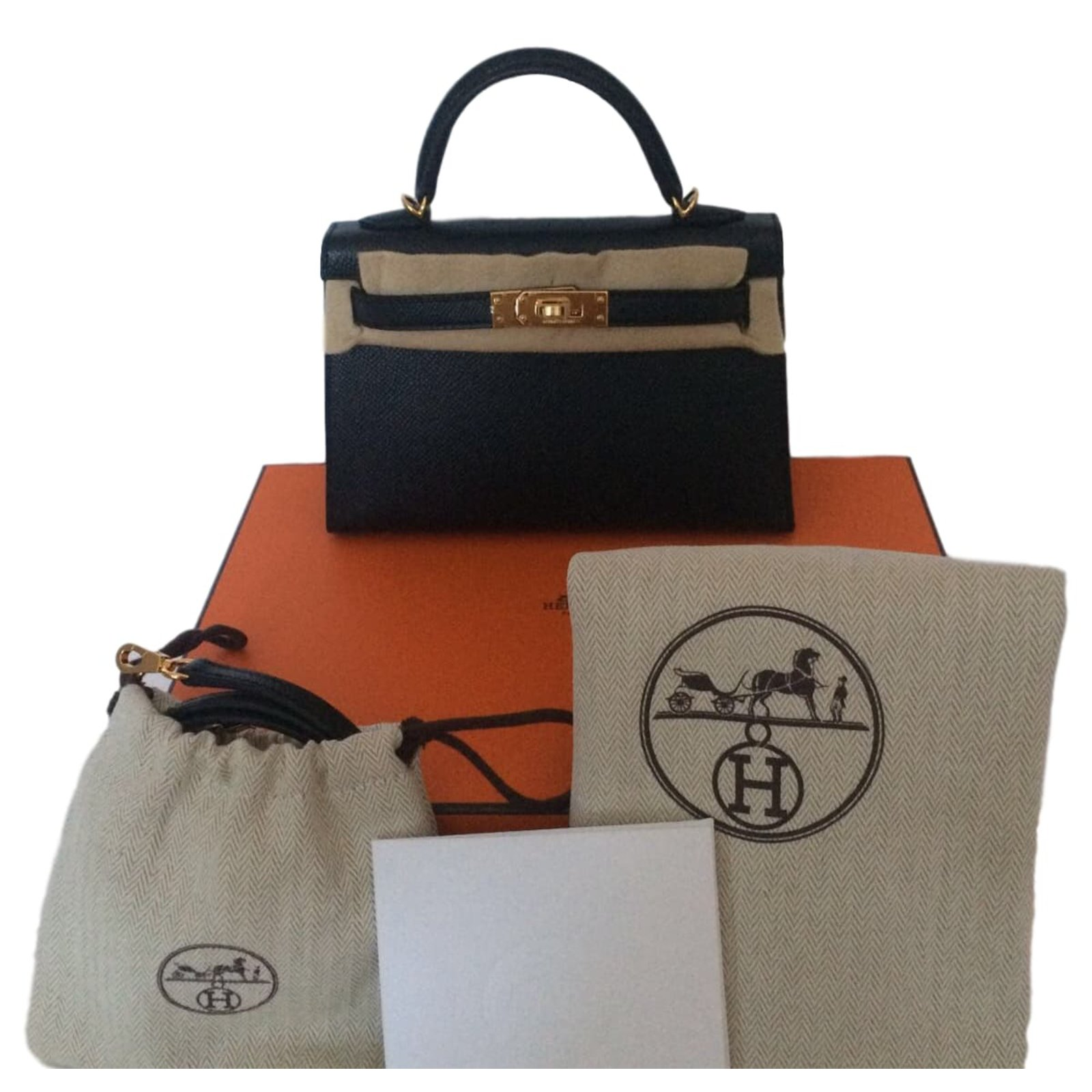 821fe85928 Sacs à main Hermès Kelly II Mini Cuir Noir ref.46072 - Joli Closet