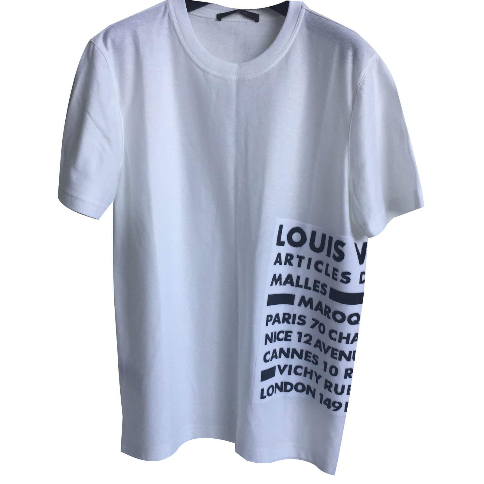 tee shirts louis vuitton t shirt coton blanc. Black Bedroom Furniture Sets. Home Design Ideas