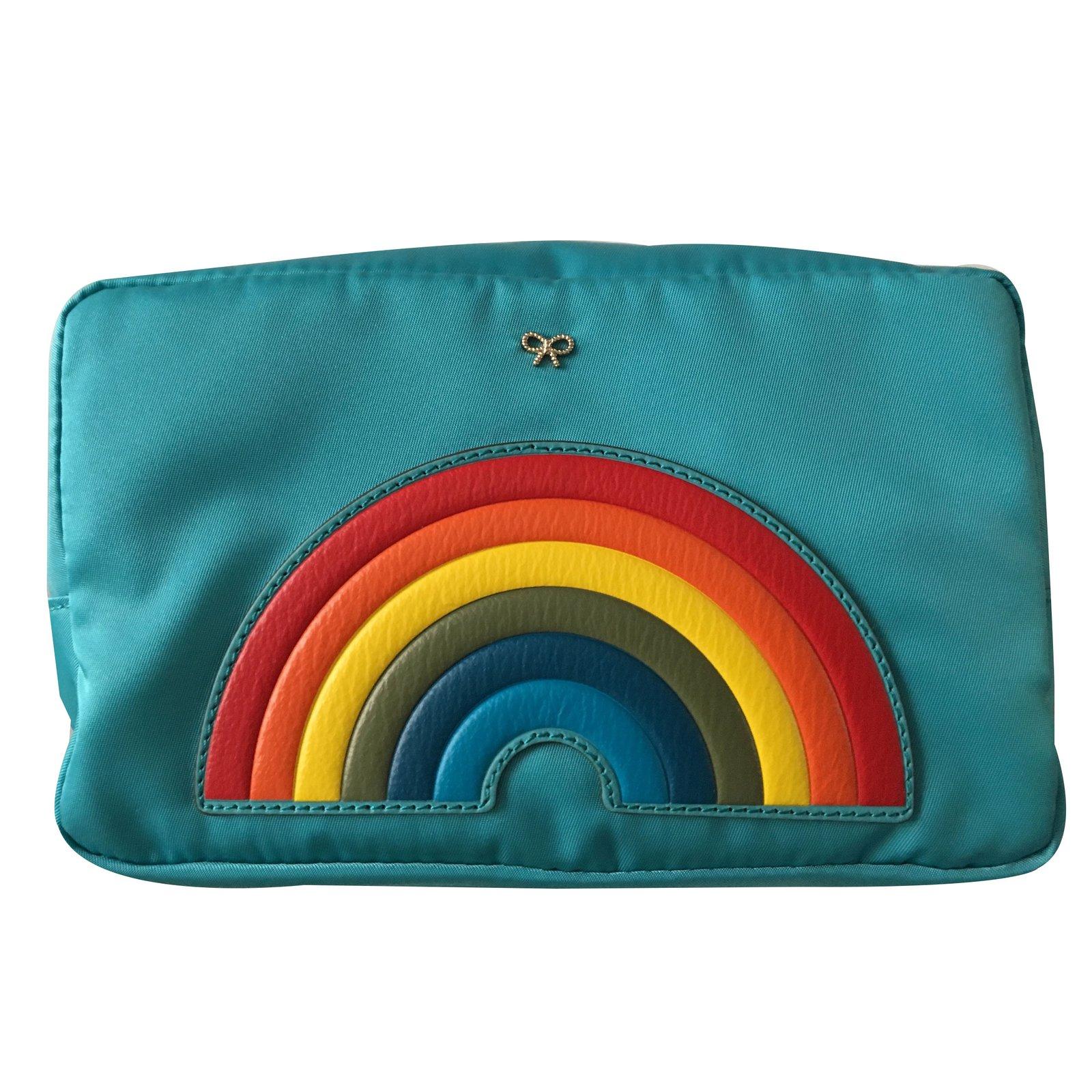 Anya Hindmarch Clutch bags Clutch bags nylon Blue ref.45024 - Joli ... ec9b7193bb96