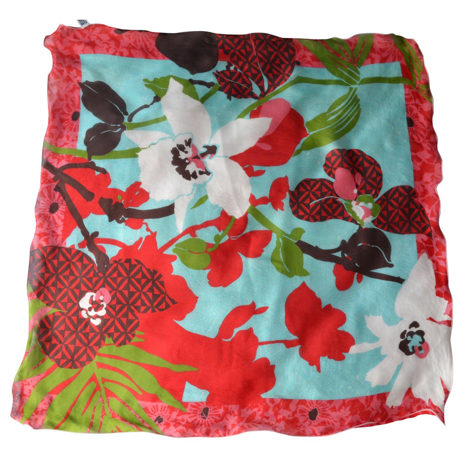 9eff6197edb2 Foulards Kenzo Foulard vintage Soie Multicolore ref.45365 - Joli Closet