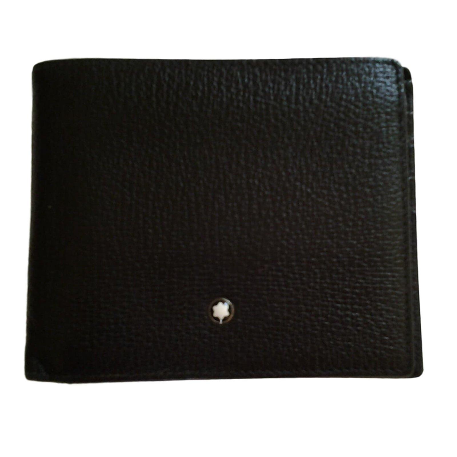 Portefeuille MONTBLANC cuir noir ikLXACJ1